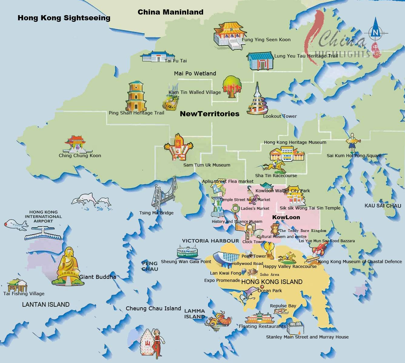 Map Of Hong Kong Tourist Attractions Large Hong Kong City Maps for Free Download and Print | High