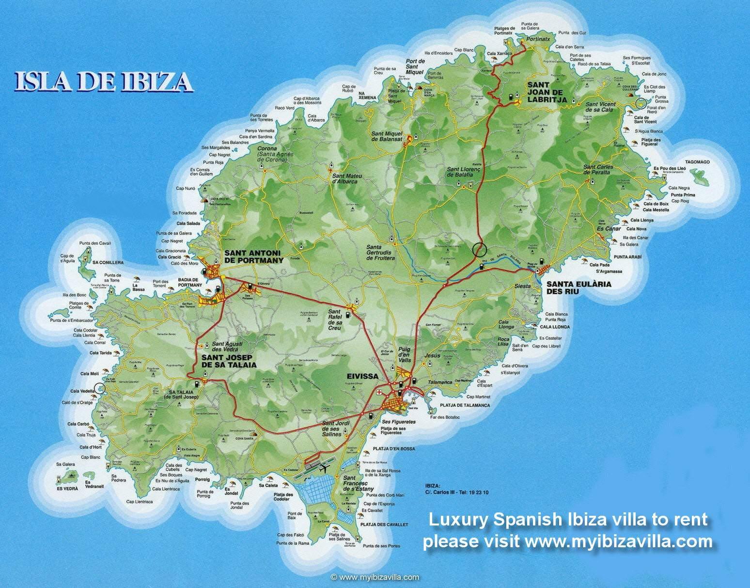 Ibizan kartta