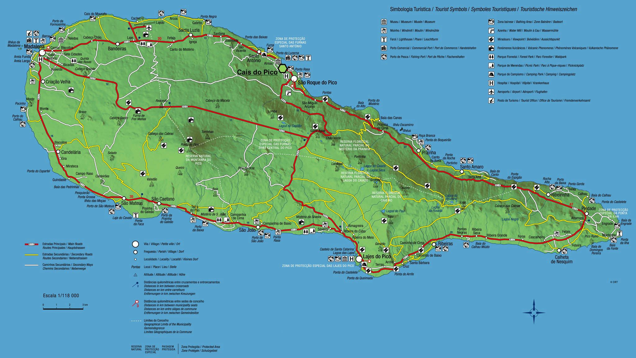 Large Pico Island Maps For Free Download And Print High Resolution And Detailed Maps