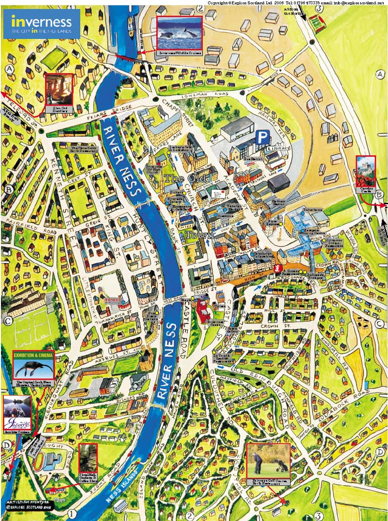 Large Inverness Maps for Free Download and Print HighResolution
