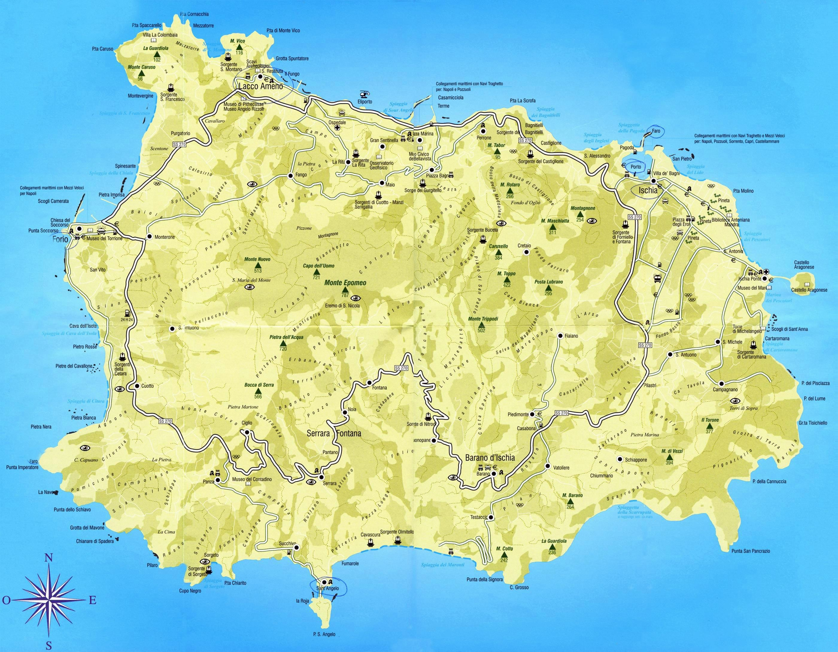 Large Isola di Ischia Maps for Free Download and Print High