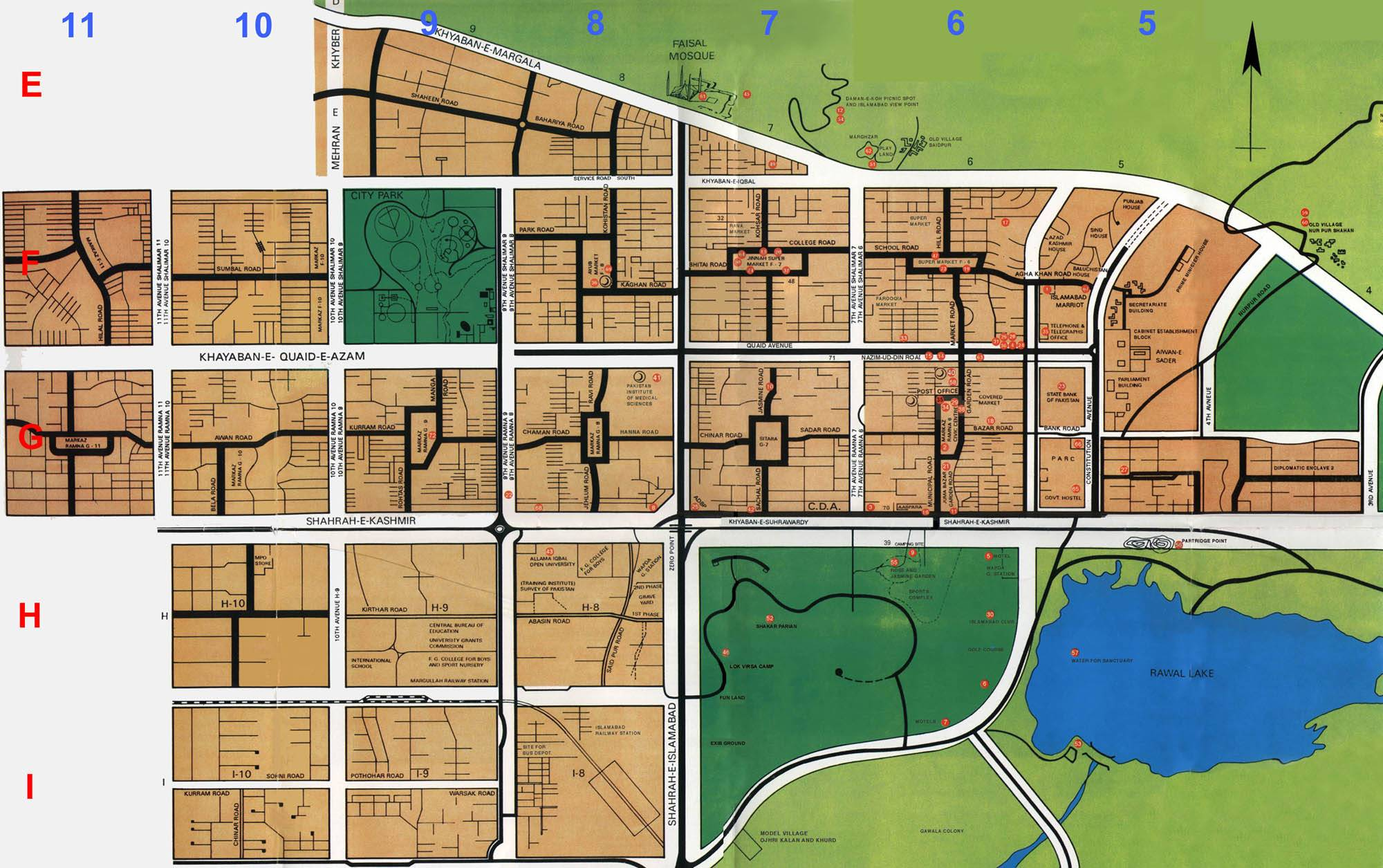 Large Islamabad Maps for Free Download and Print | High