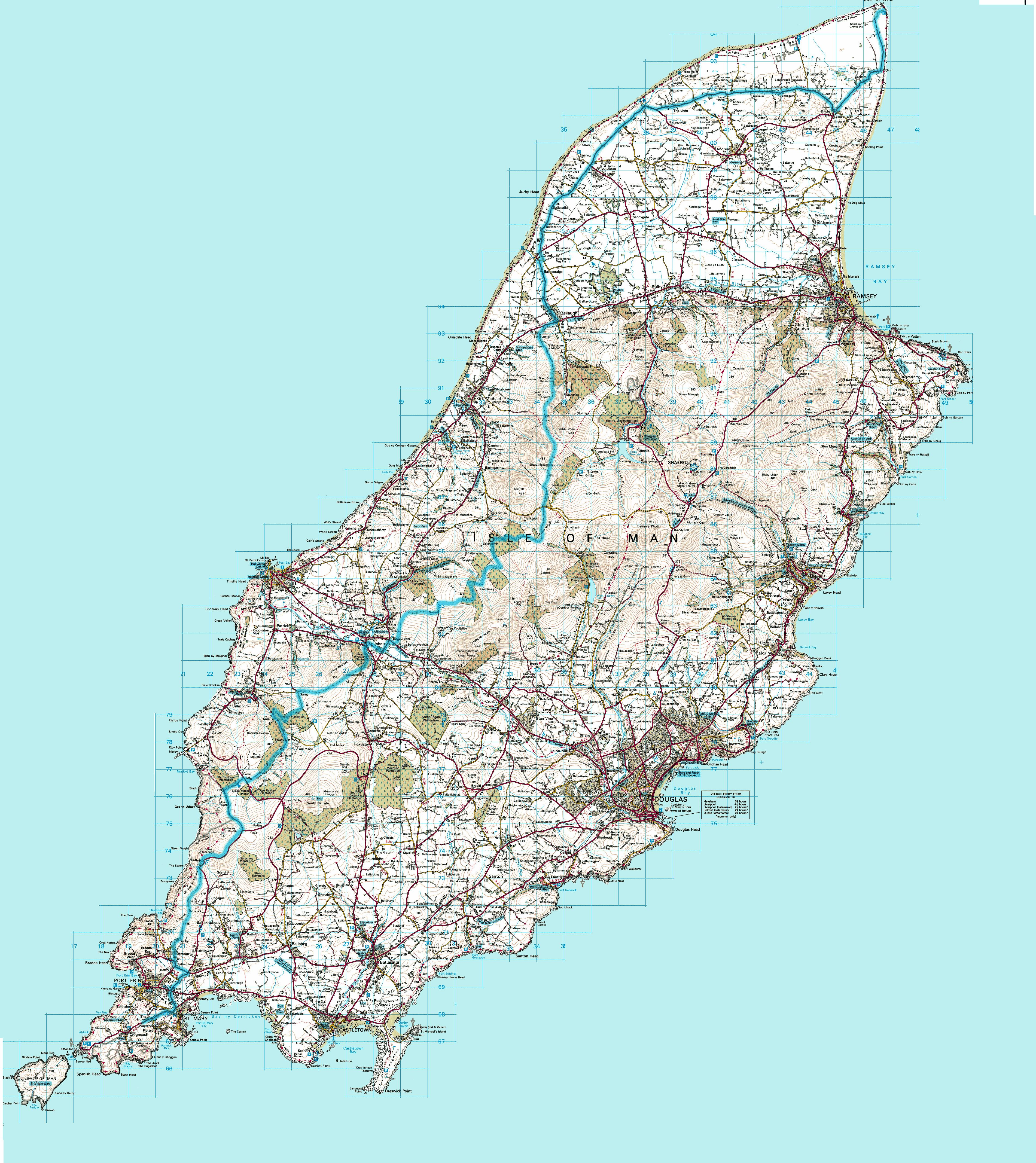 Map Of The Isle Of Man Large Isle Of Man Maps for Free Download and Print | High  Map Of The Isle Of Man