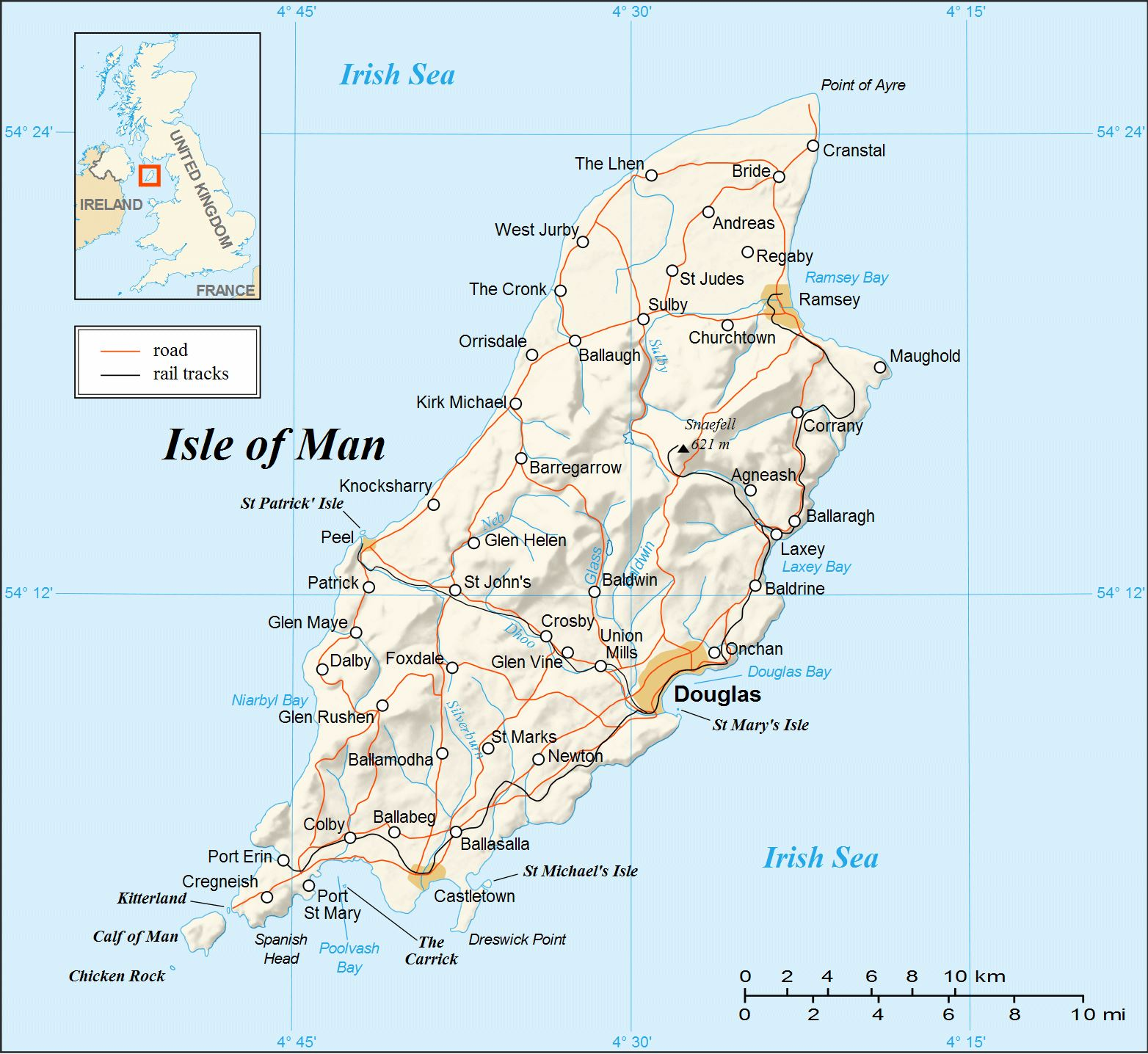 Large Isle Of Man Maps For Free Download And Print High - Isle of man map