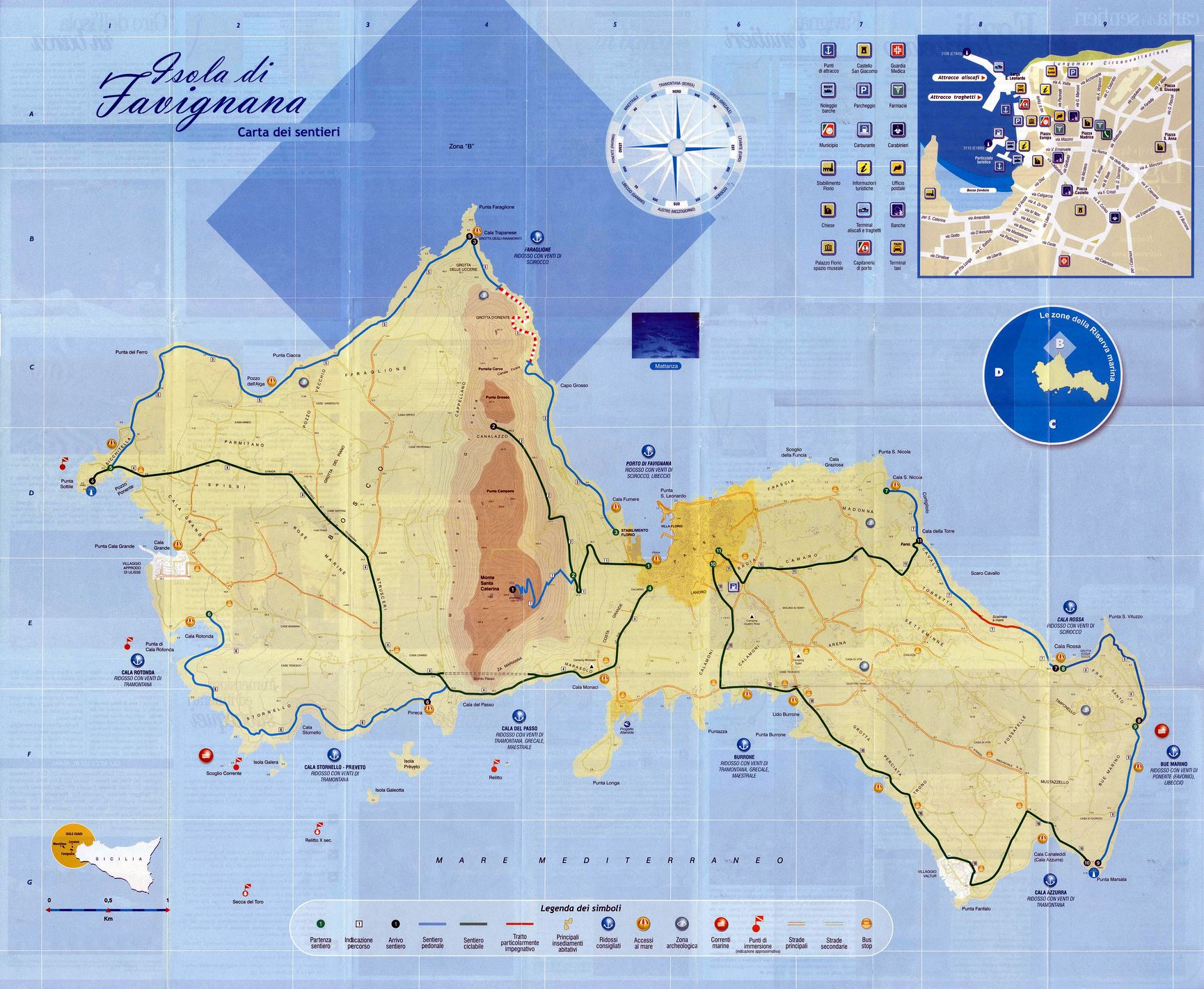 Large Favignana Island Maps for Free Download and Print High