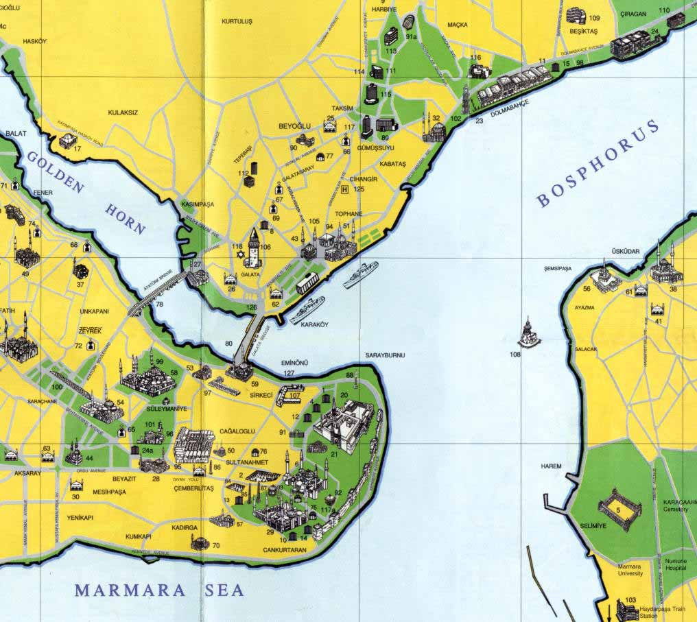 Large Istanbul Maps For Free Download And Print High Resolution