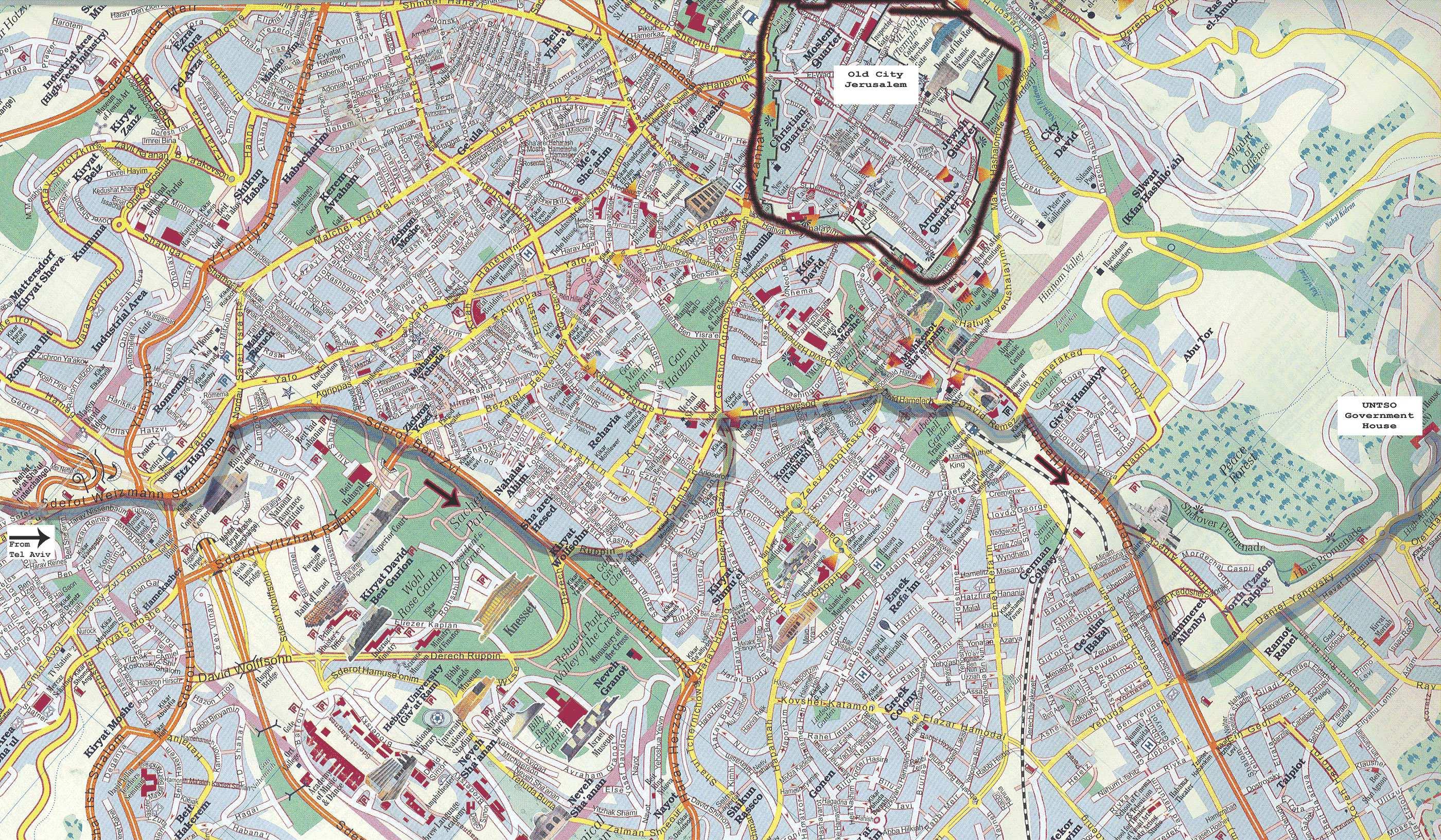 Map Of Jerusalem Large Jerusalem Maps for Free Download and Print   High Resolution  Map Of Jerusalem