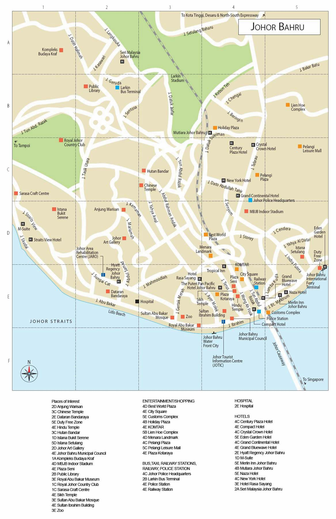 Large Johor Bahru Maps for Free Download and Print HighResolution