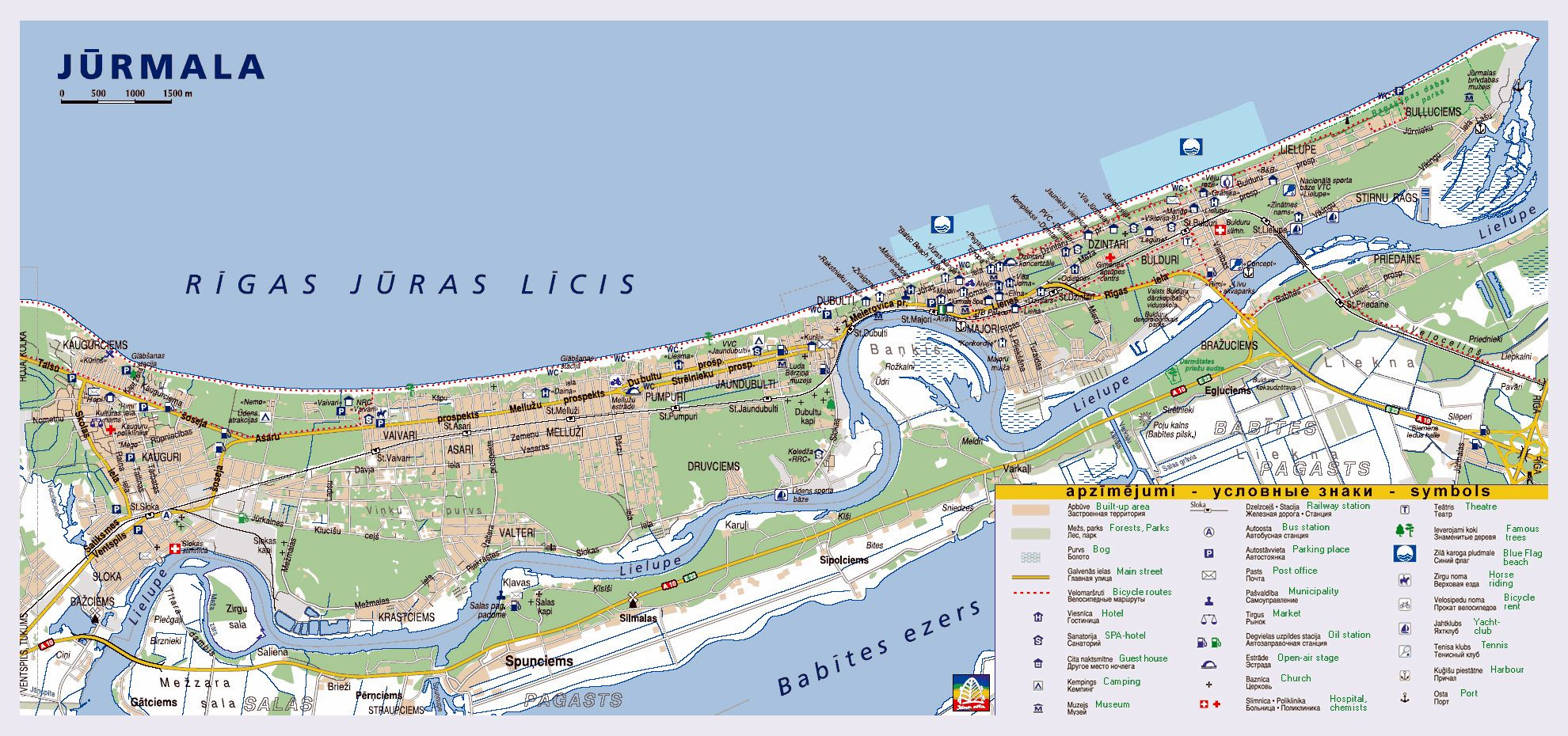 Large Jurmala Maps for Free Download and Print HighResolution and