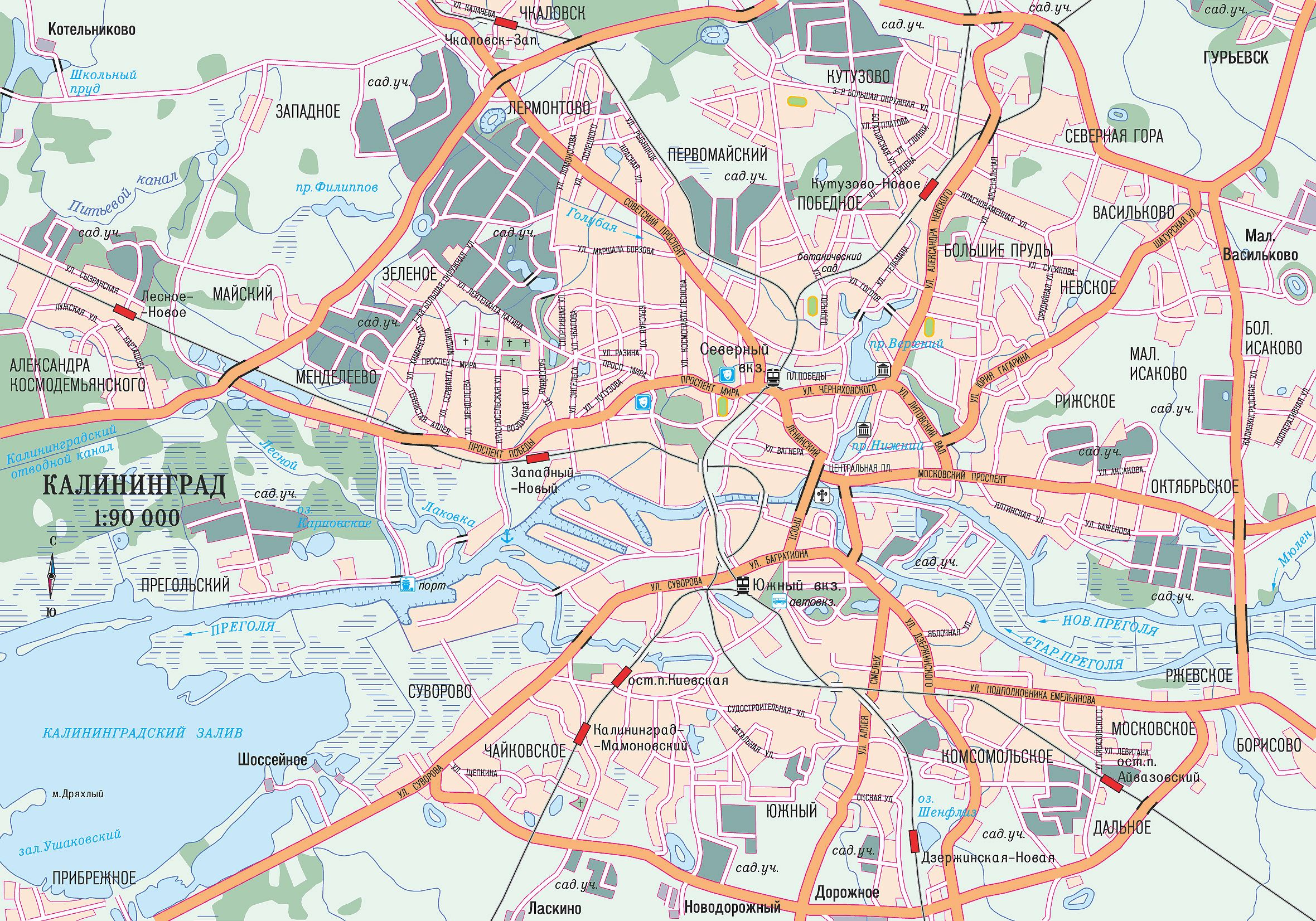 Large Kaliningrad Maps for Free Download and Print HighResolution