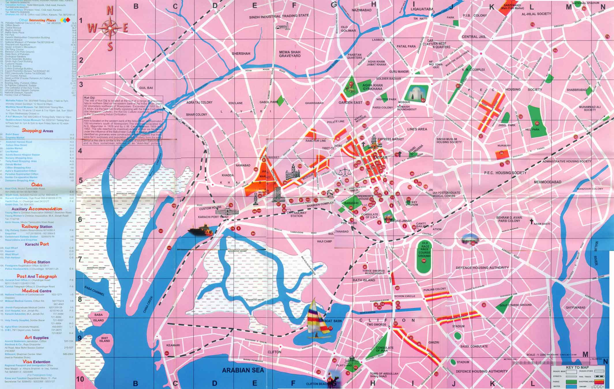 large map of karachi 1