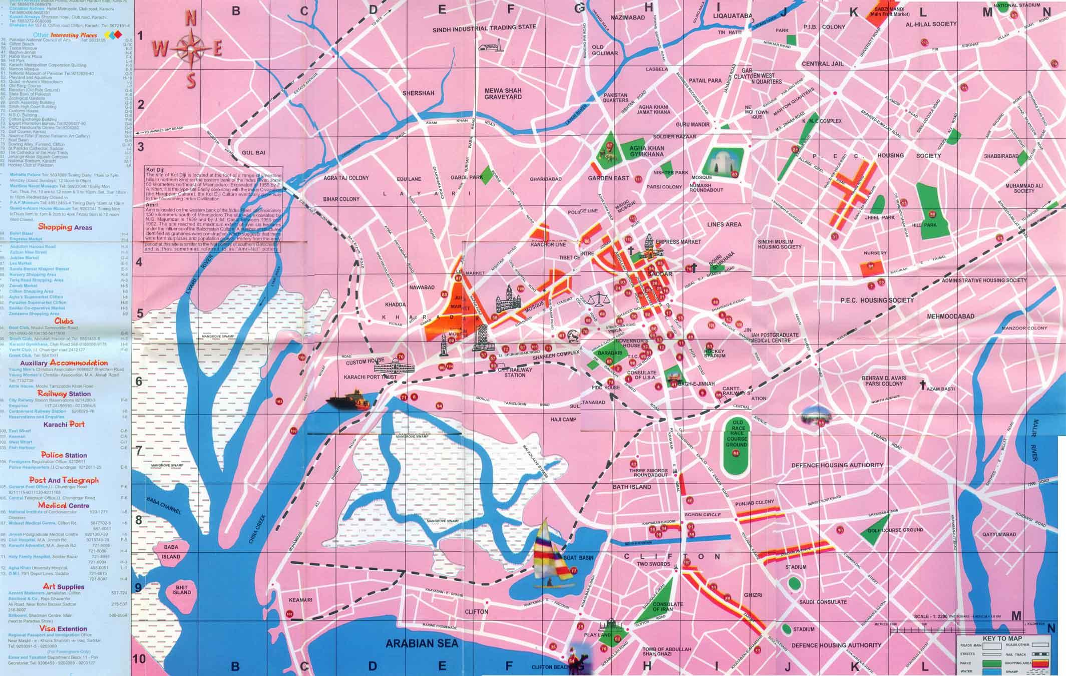 karachi karta City Map Sites   Perry Castañeda Map Collection   UT Library Online karachi karta