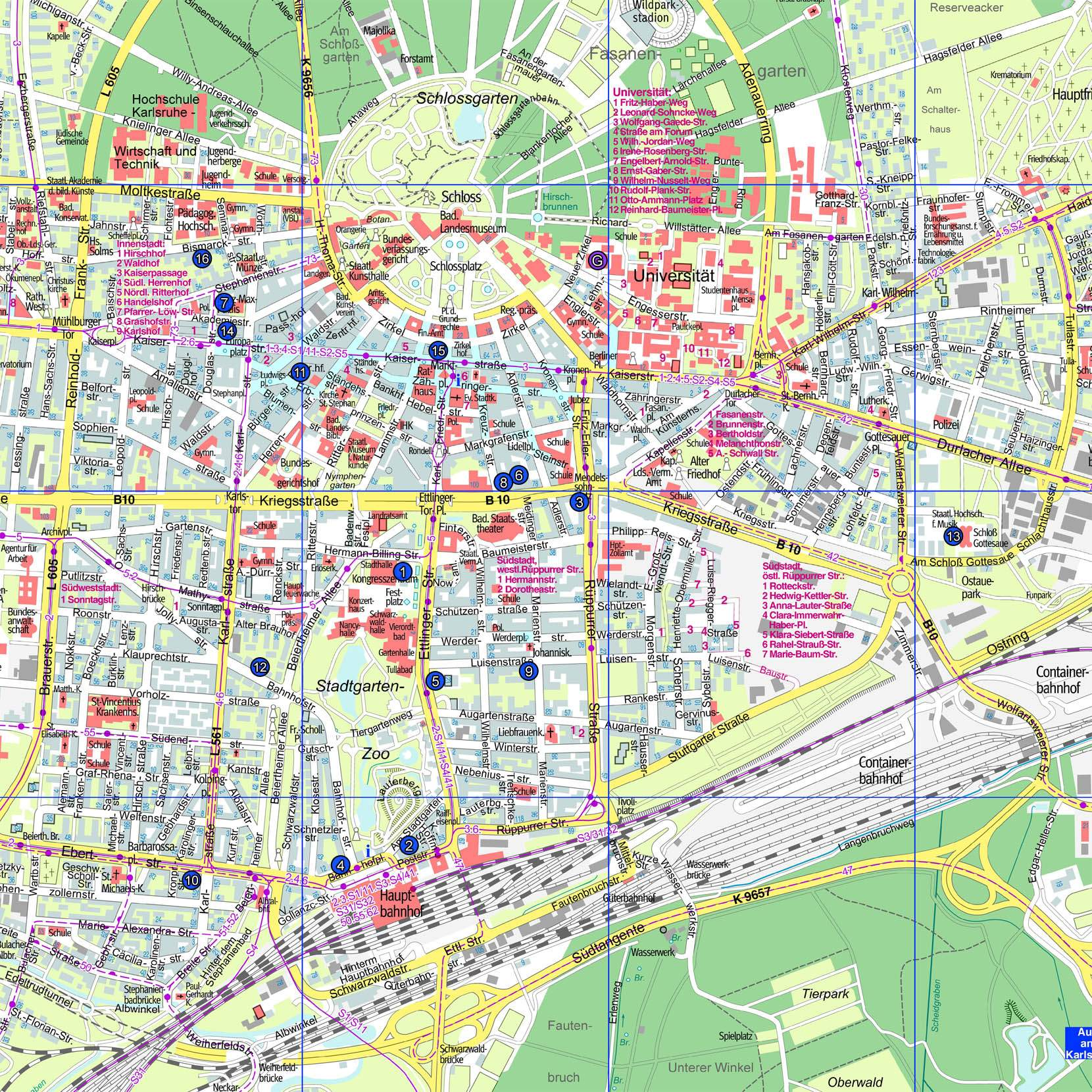 Karlsruhe Map Of Germany.Large Karlsruhe Maps For Free Download And Print High Resolution
