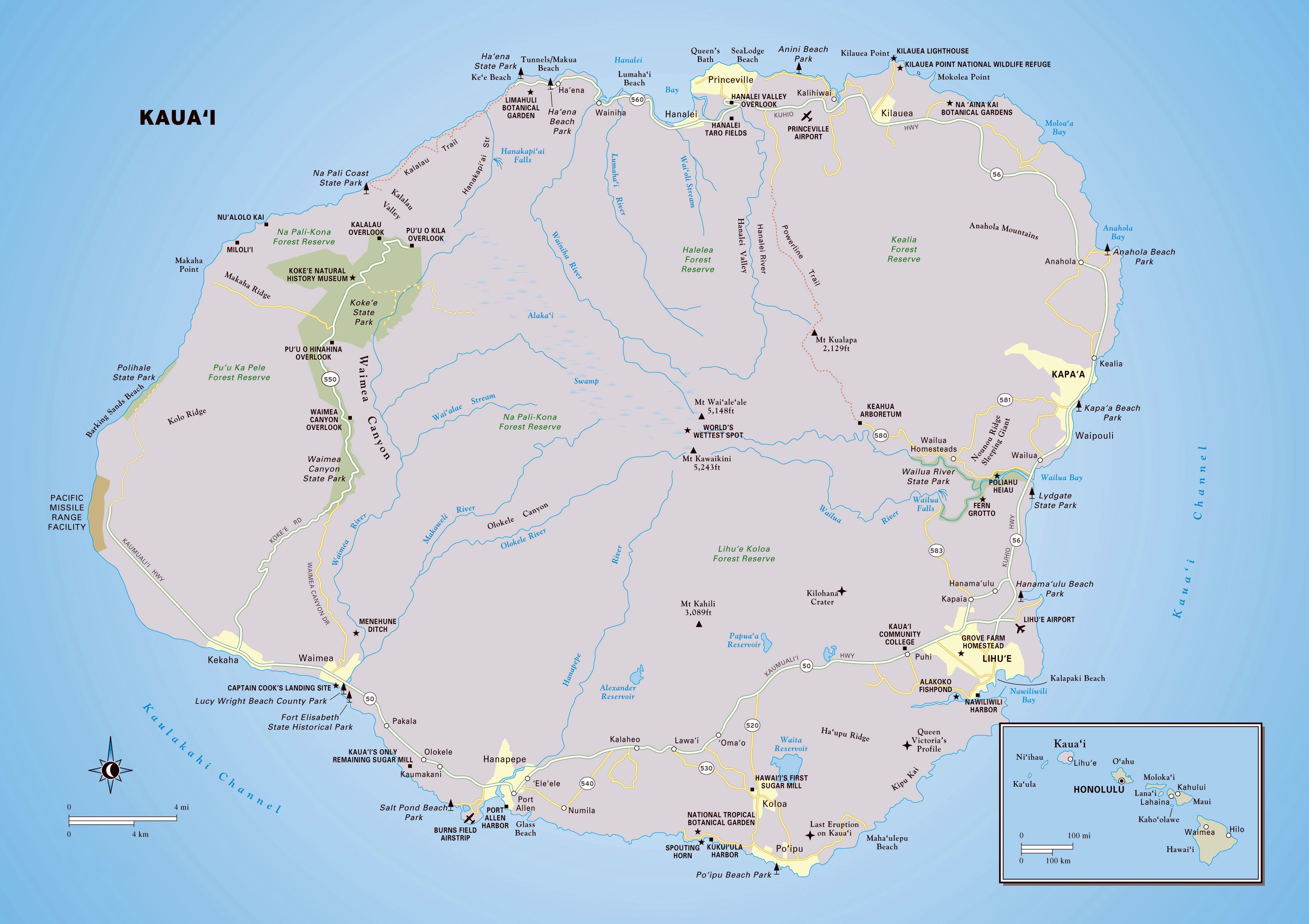 photograph relating to Printable Map of Maui identify Enormous Kauai Island Maps for Totally free Obtain and Print Higher