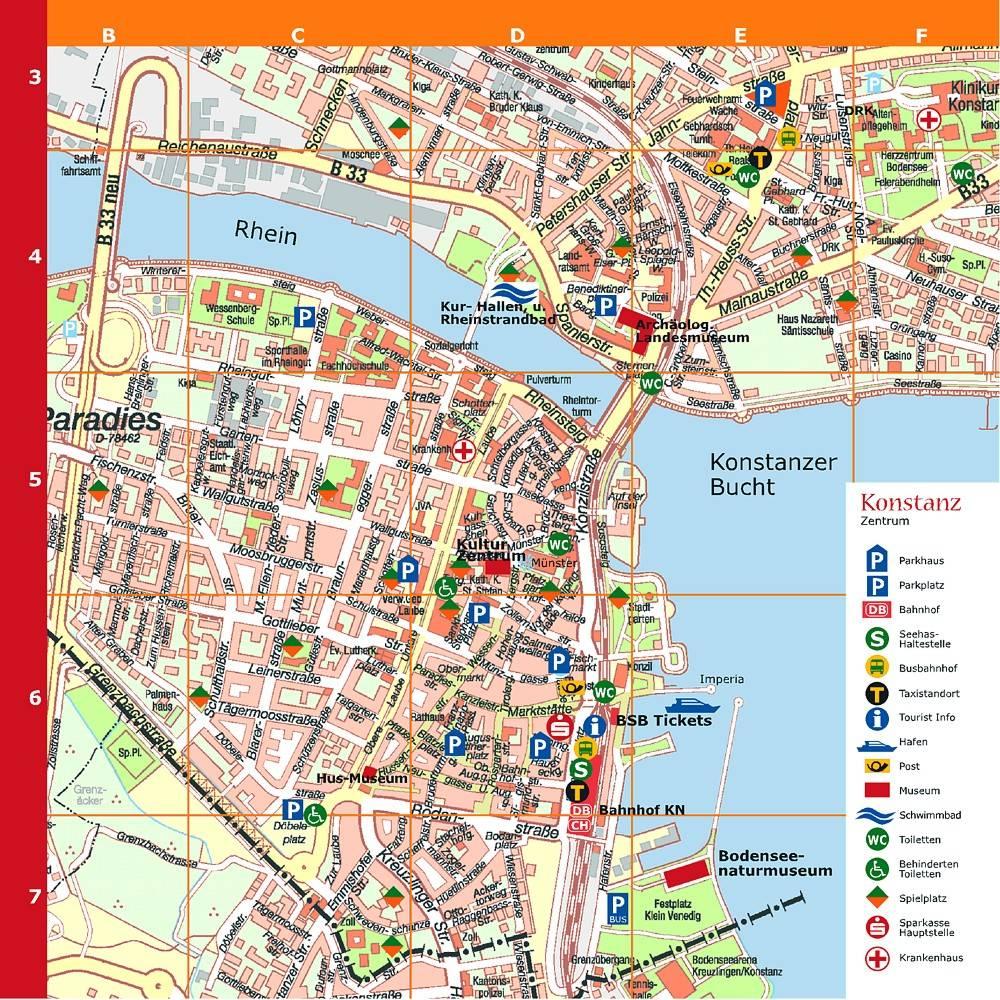karte konstanz Stadtplan von Konstanz | Detaillierte gedruckte Karten von  karte konstanz