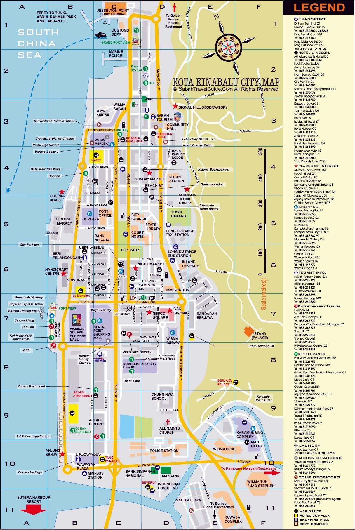 Large Kota Kinabalu Maps For Free Download And Print High