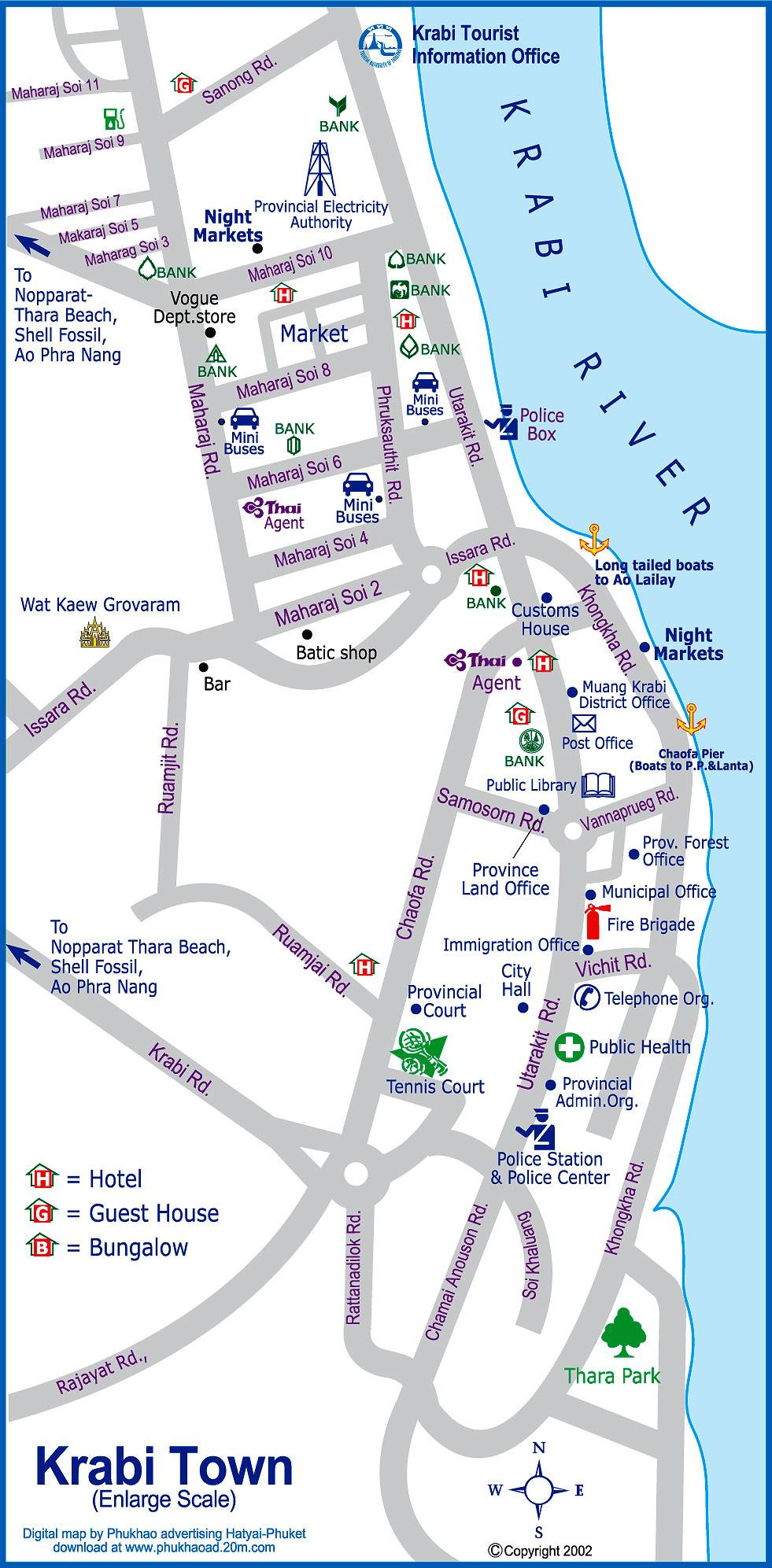 Large Krabi Maps for Free Download and Print HighResolution and