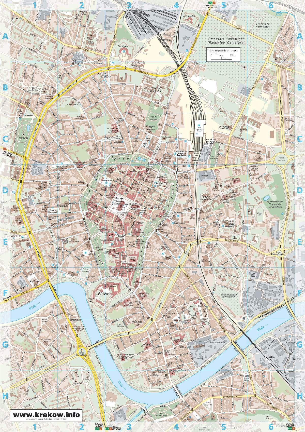 Large Krakow Maps For Free Download And Print High Resolution