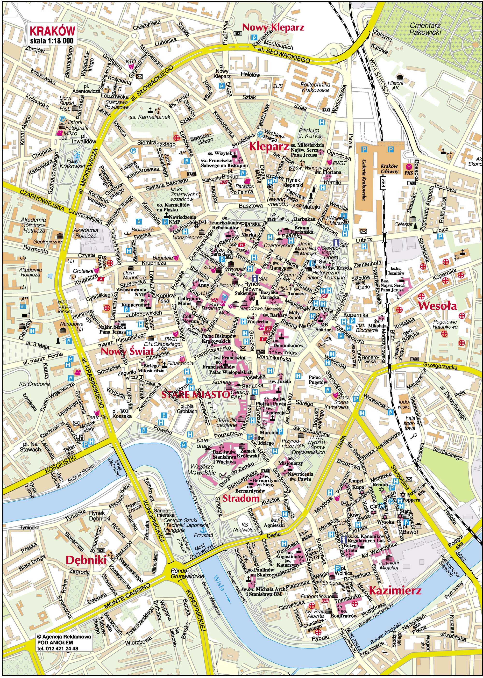 cracóvia mapa Large Krakow Maps for Free Download and Print | High Resolution  cracóvia mapa