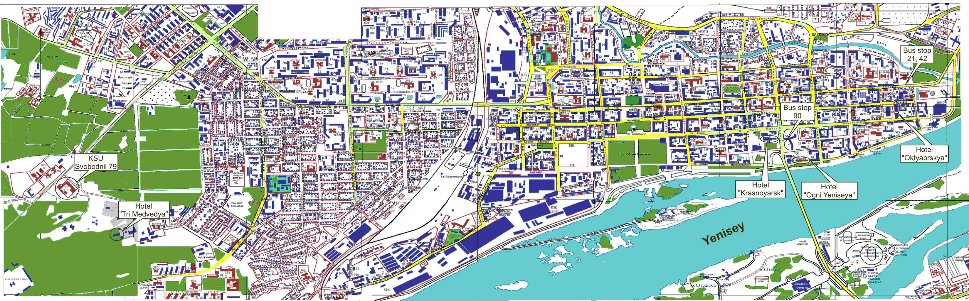 Large Krasnoyarsk Maps For Free Download And Print High - Detailed map of russia