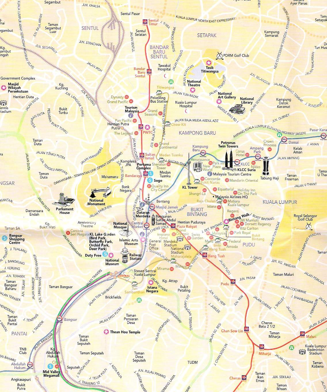 Kuala Lumpur Map Large Kuala Lumpur Maps for Free Download and Print | High