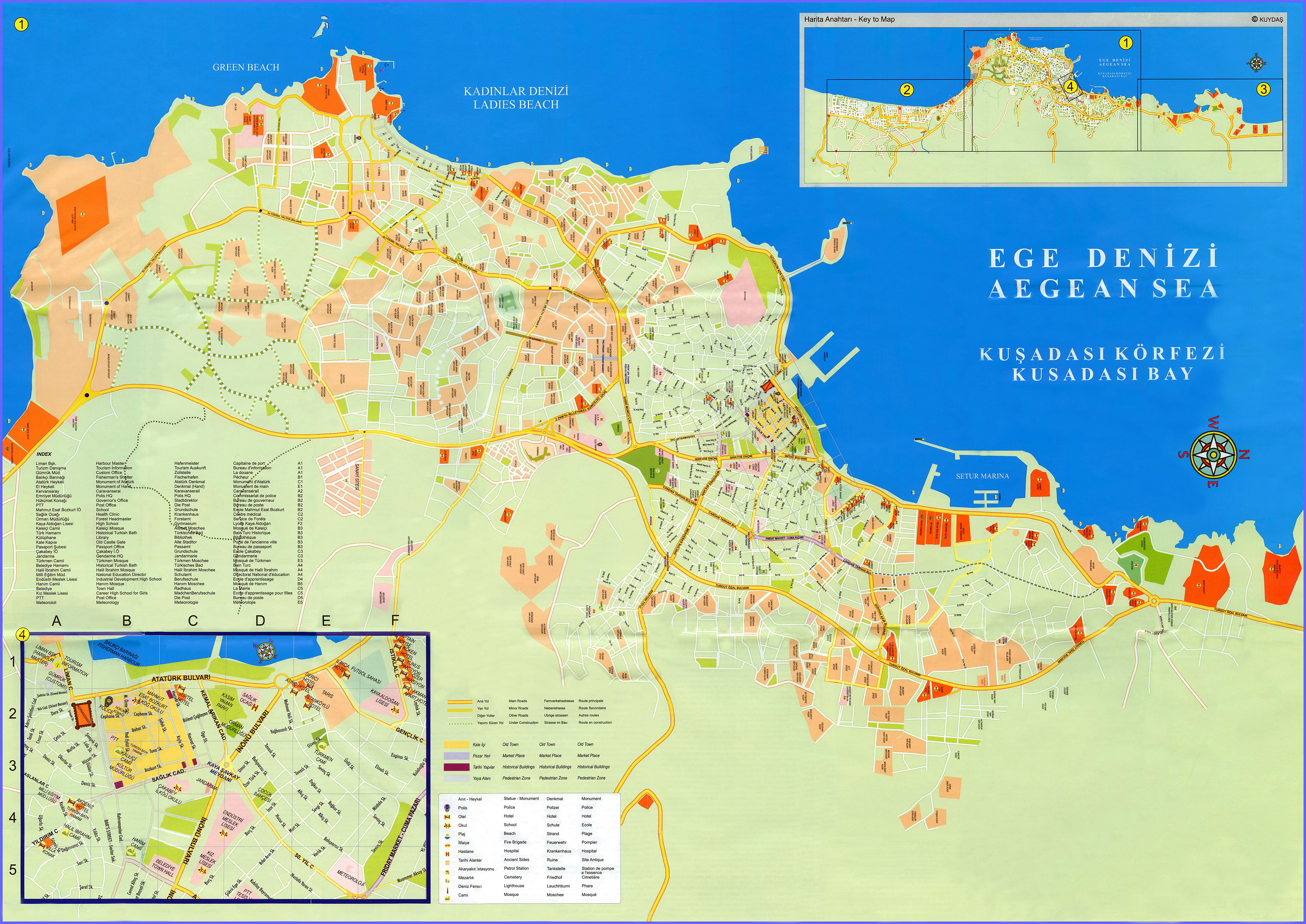 Large Kusadasi Maps For Free Download And Print HighResolution - High Resolution Us Map Download