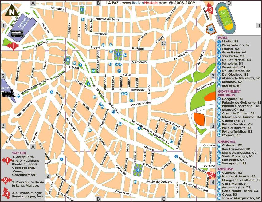 La Paz Bolivia Map Large La Paz Maps for Free Download and Print | High Resolution