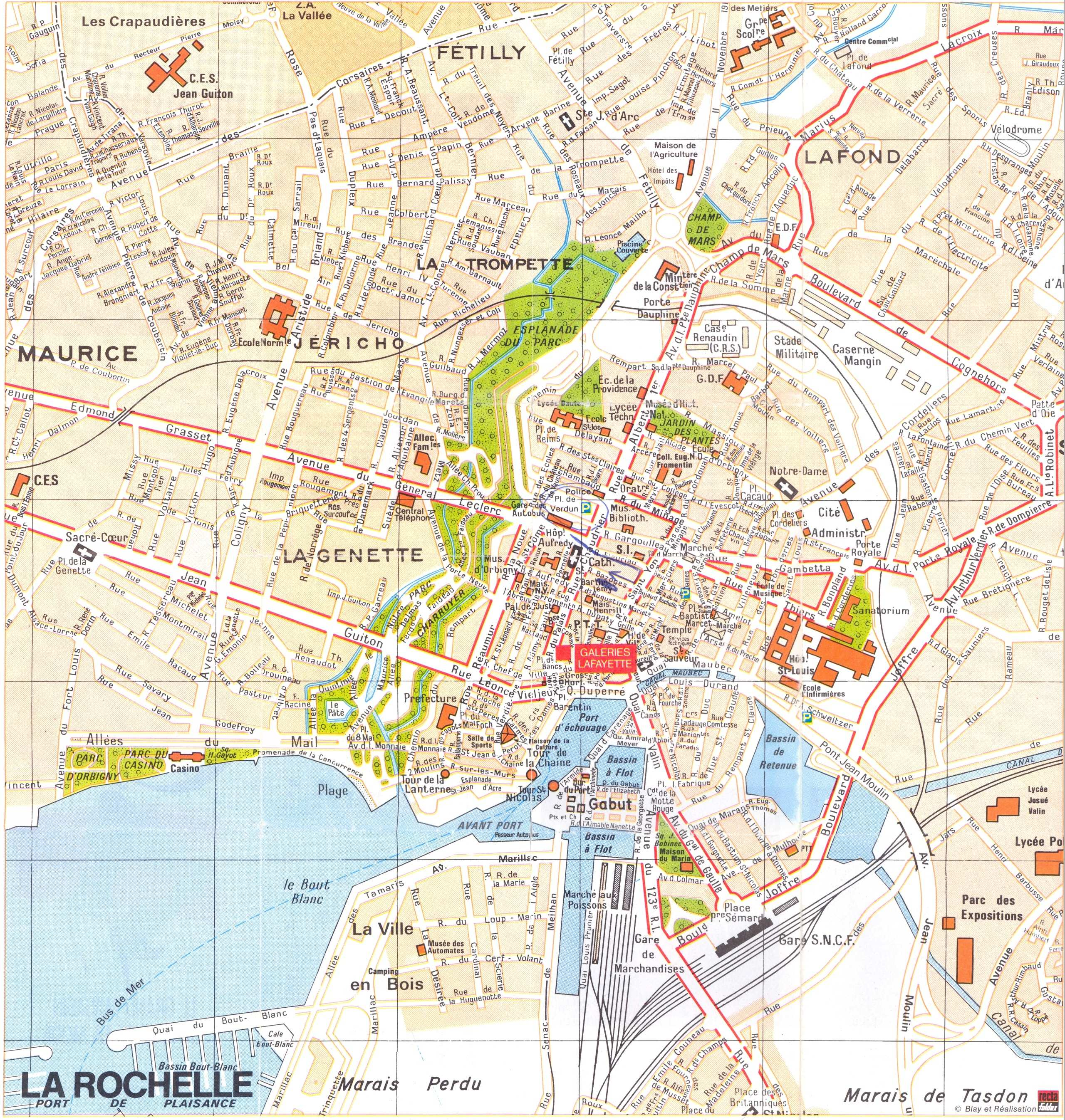 Large La Rochelle Maps for Free Download and Print HighResolution