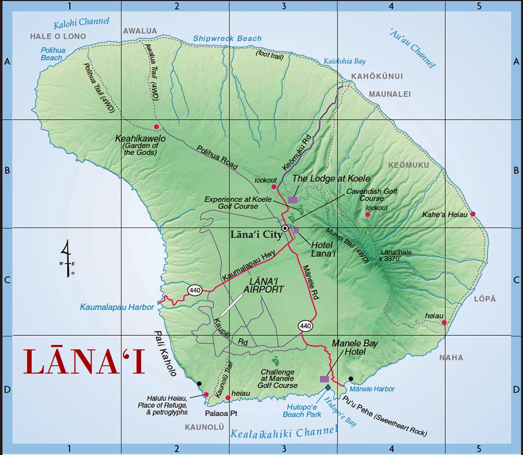 Large Lanai Maps for Free Download and Print | High Resolution and