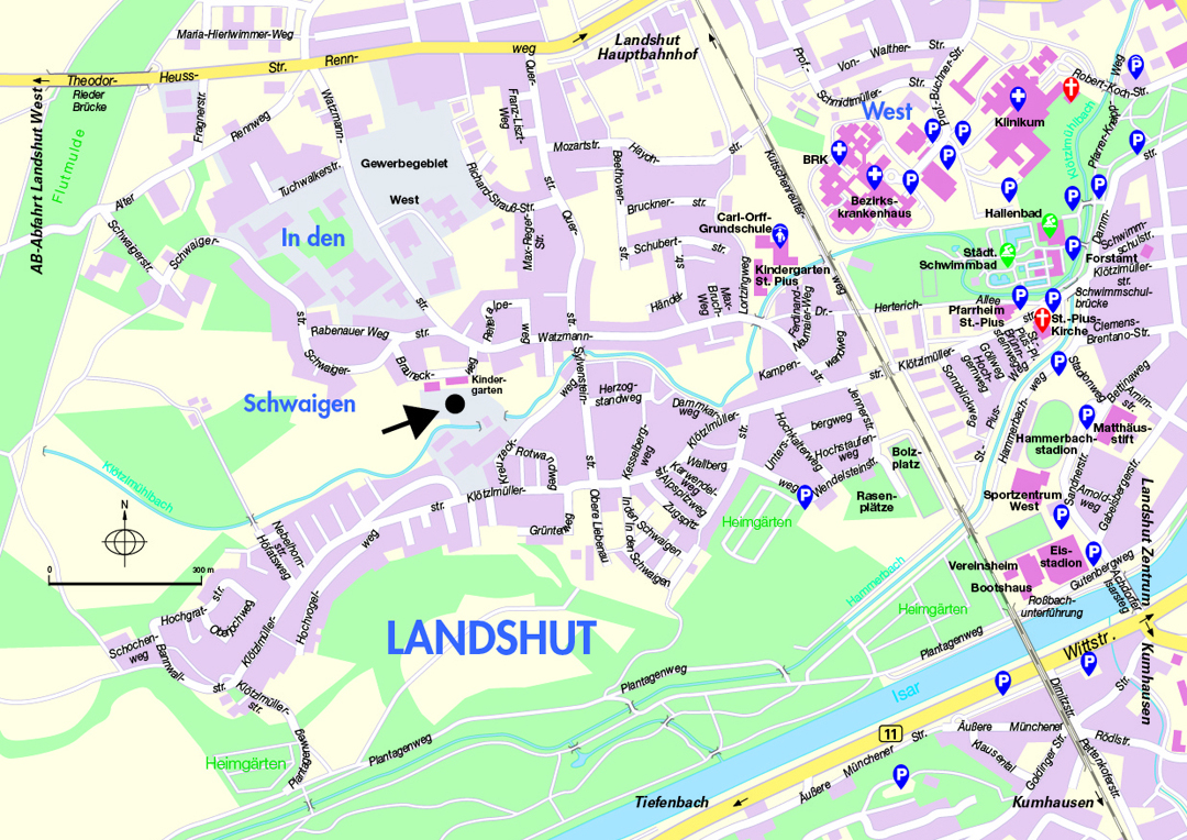 Large Landshut Maps for Free Download and Print HighResolution