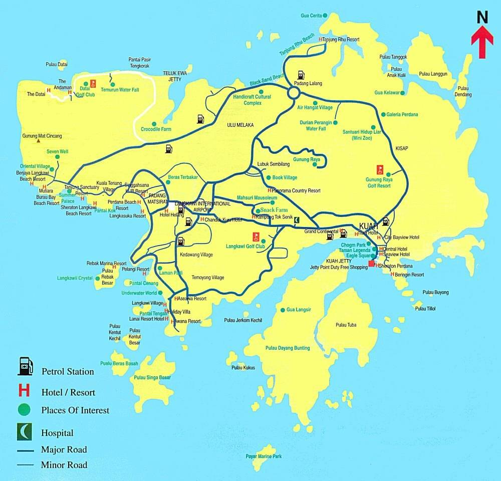 Map Malaysia Langkawi Large Langkawi Maps for Free Download and Print | High Resolution