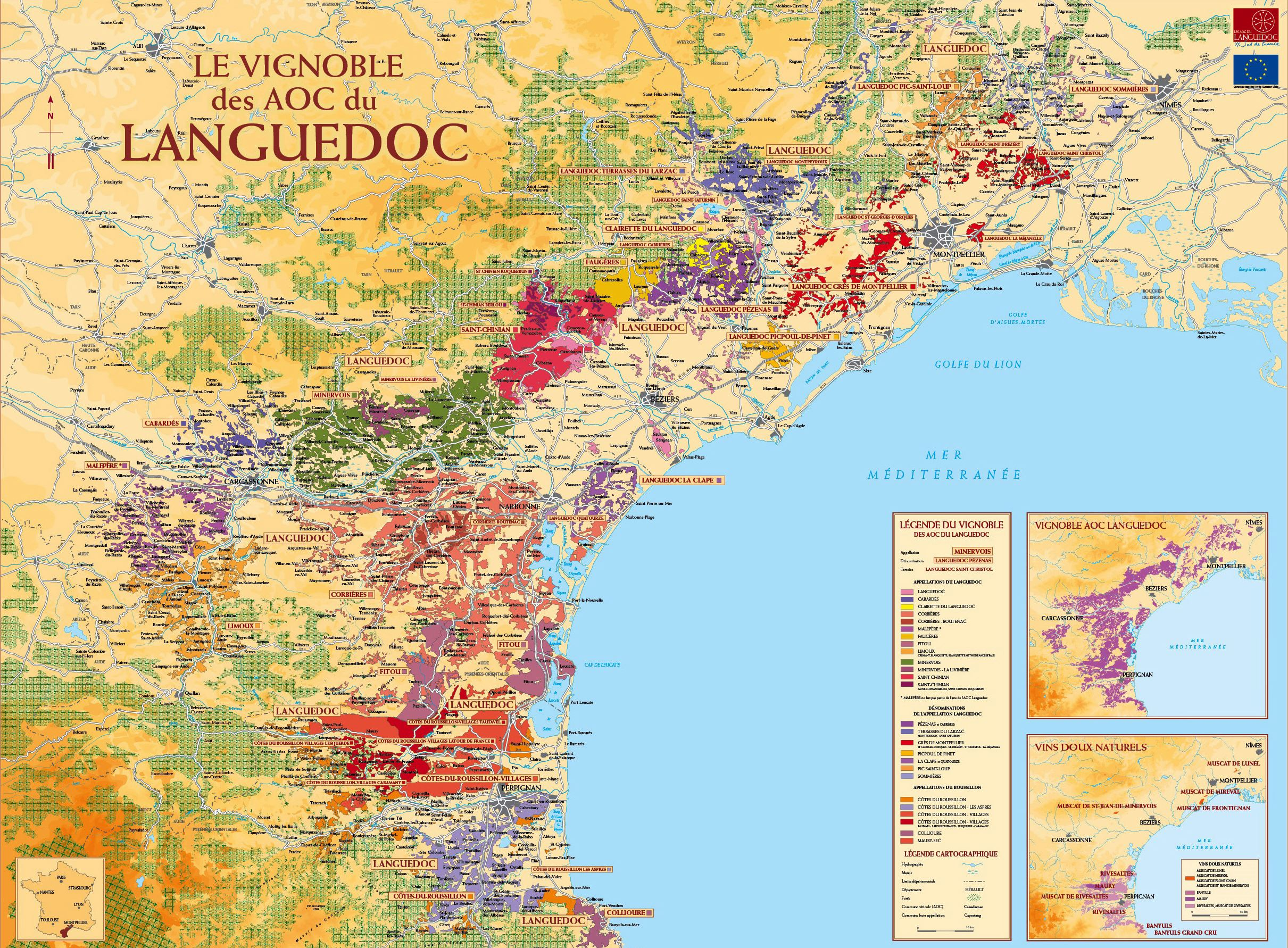 Large LanguedocRoussillon Maps for Free Download and Print High