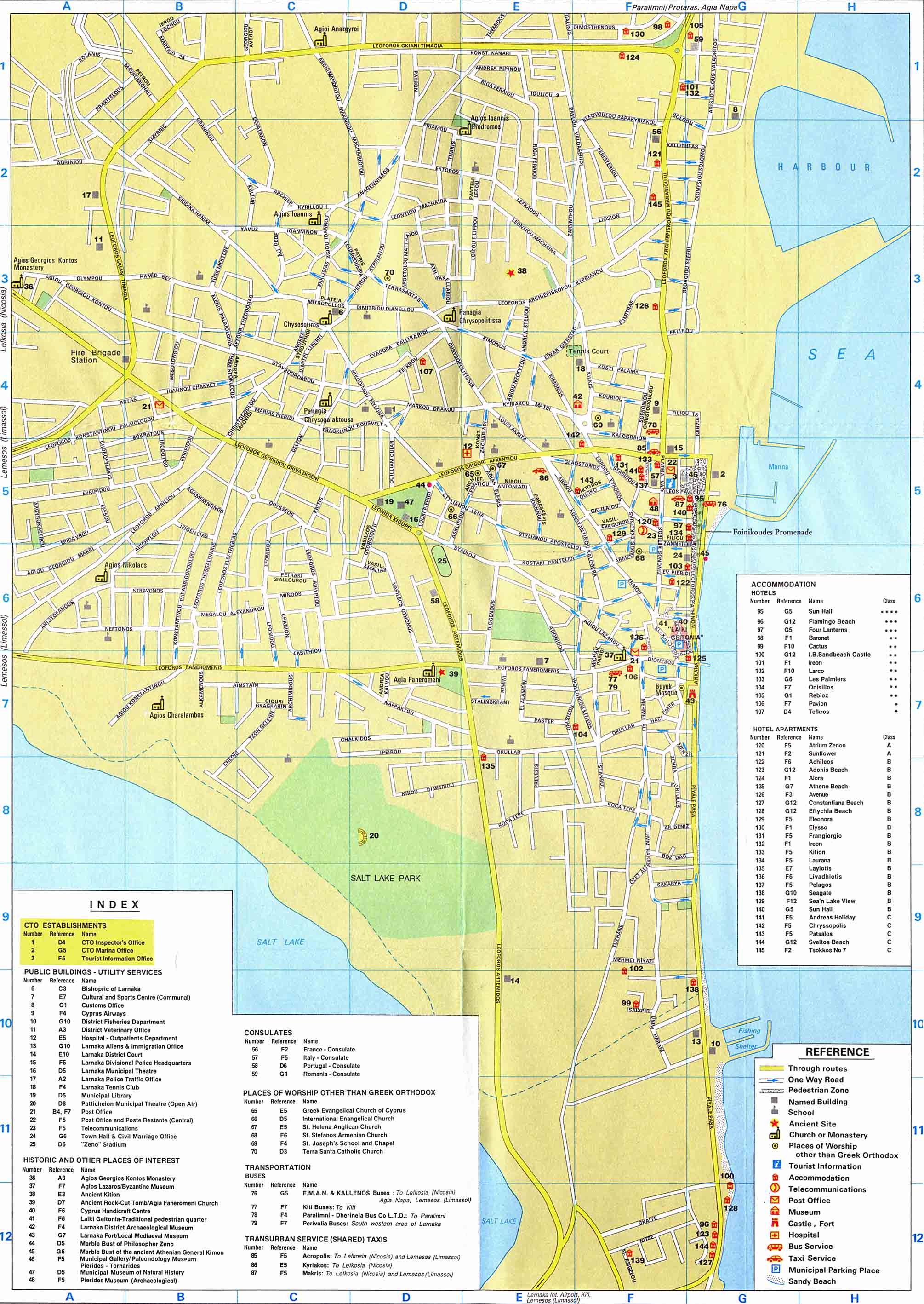 Large Larnaca Maps for Free Download and Print HighResolution and