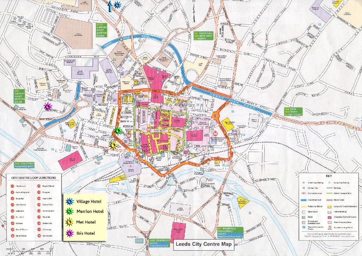 Leeds City Map Large Leeds Maps for Free Download and Print | High Resolution and