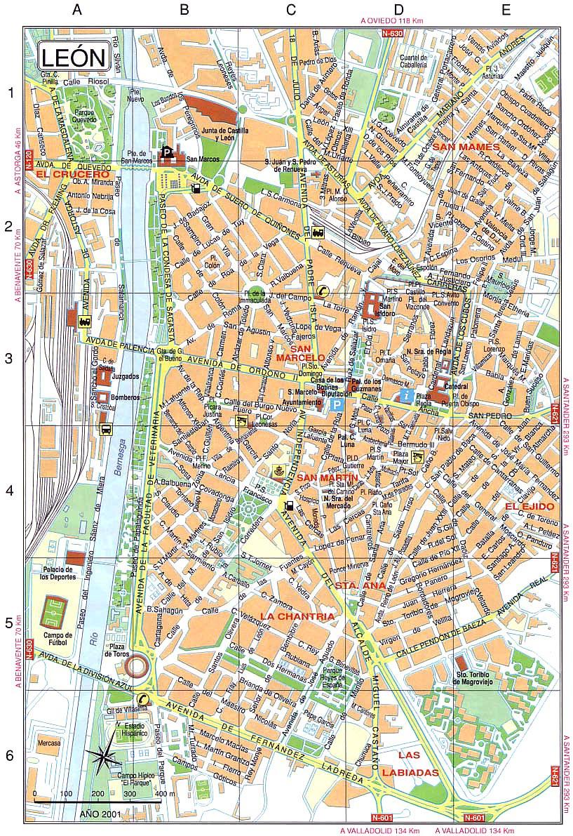 Barrio Humedo Leon Mapa.Mapas Detallados De Leon Para Descargar Gratis E Imprimir