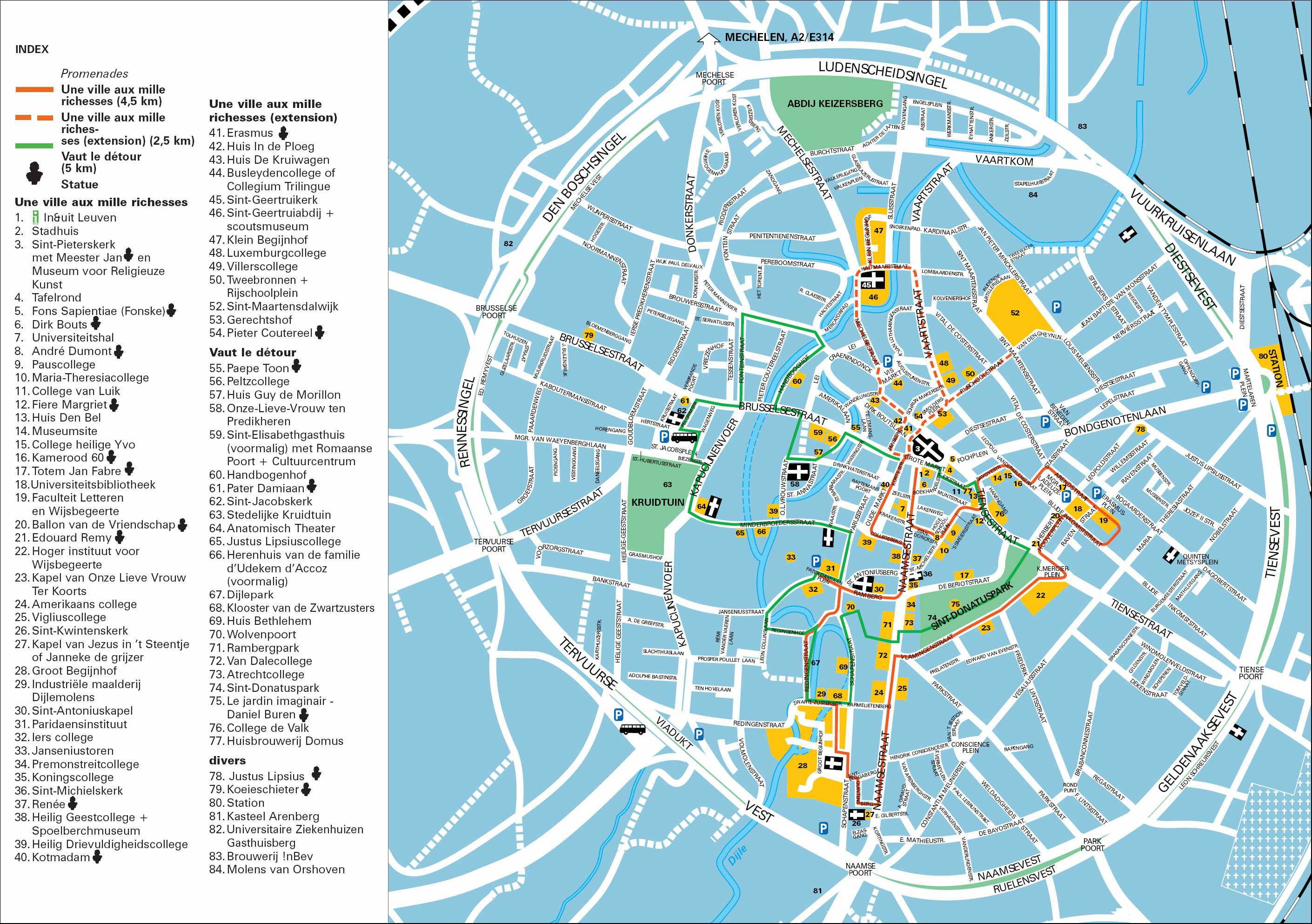 Large Leuven Maps for Free Download and Print HighResolution and