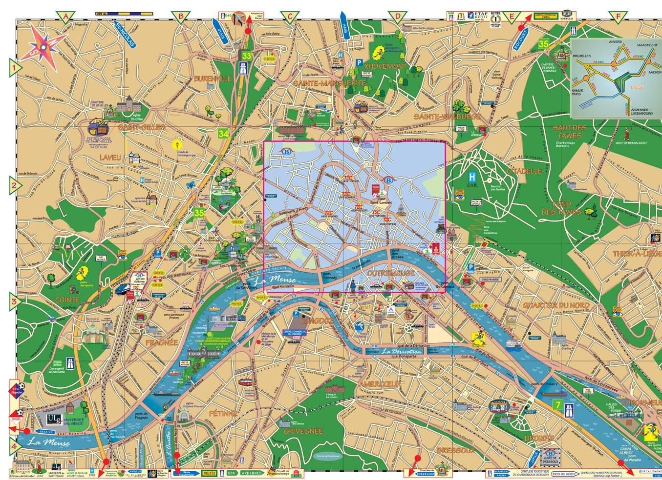Large Liege Maps for Free Download and Print HighResolution and