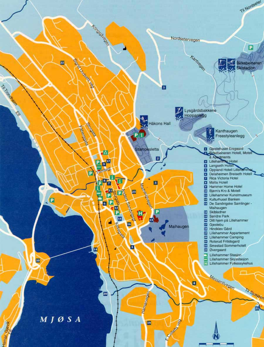 Large Lillehammer Maps for Free Download and Print HighResolution