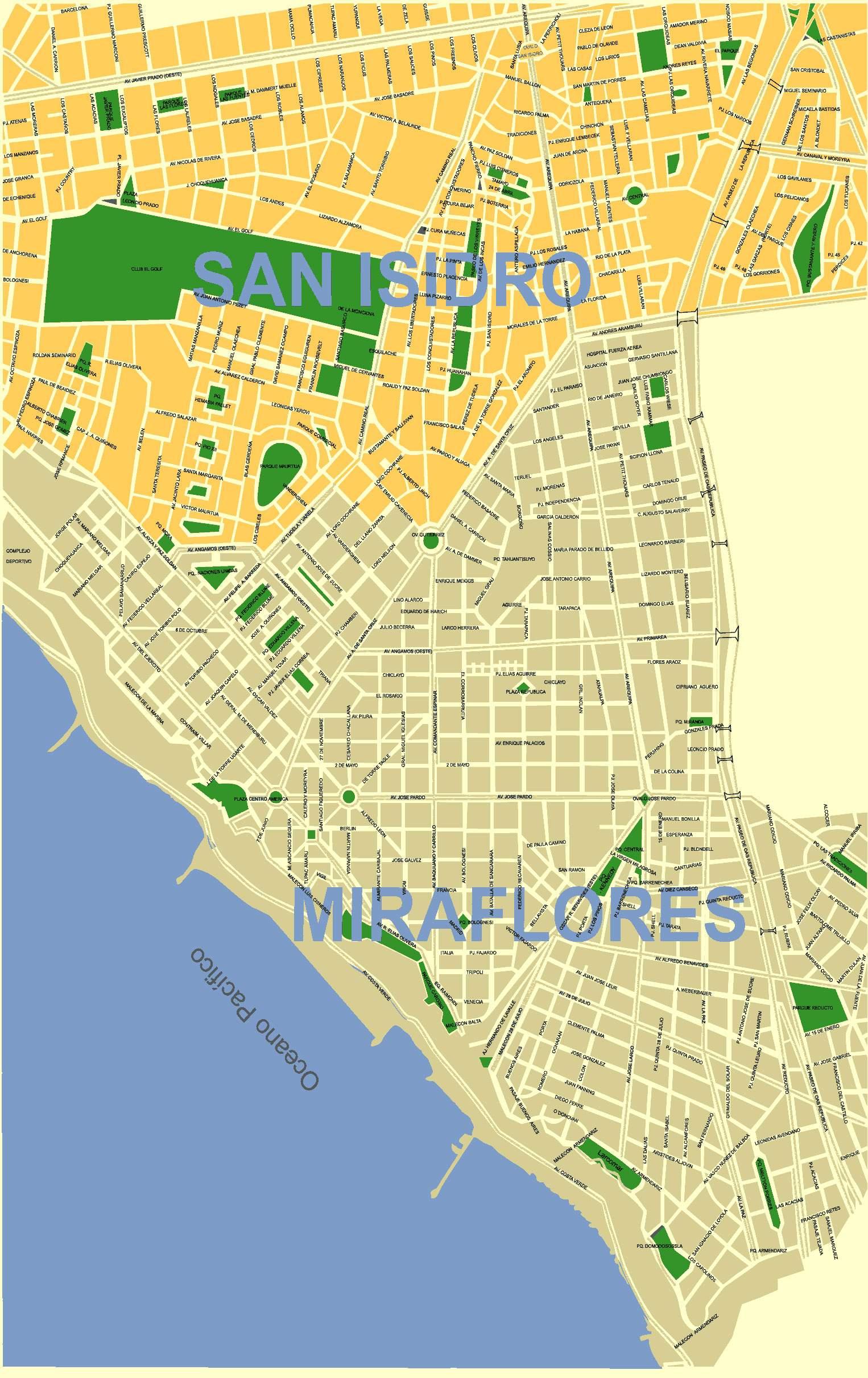 Plan Centre Ville Lima