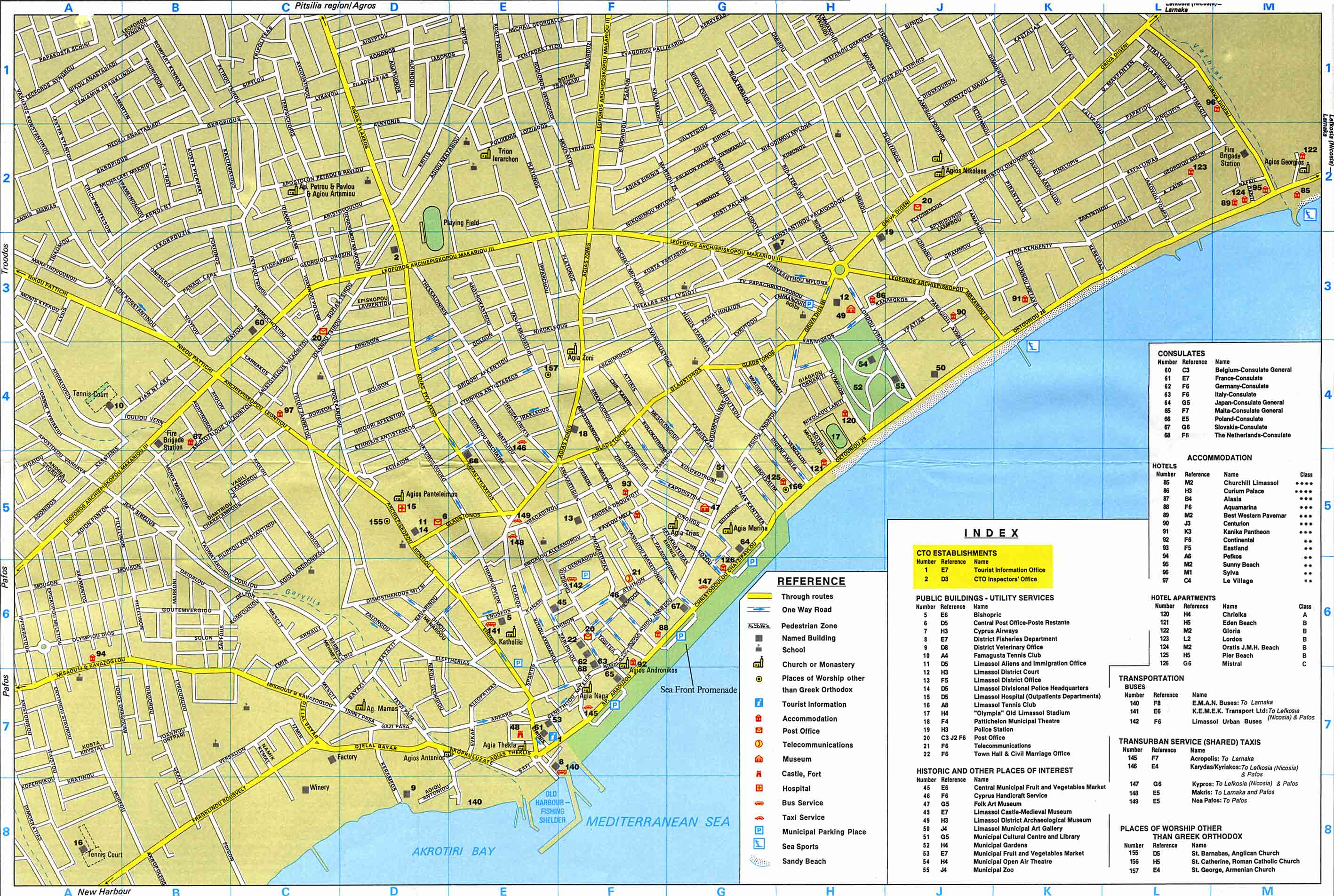 Large Limassol Maps for Free Download and Print HighResolution