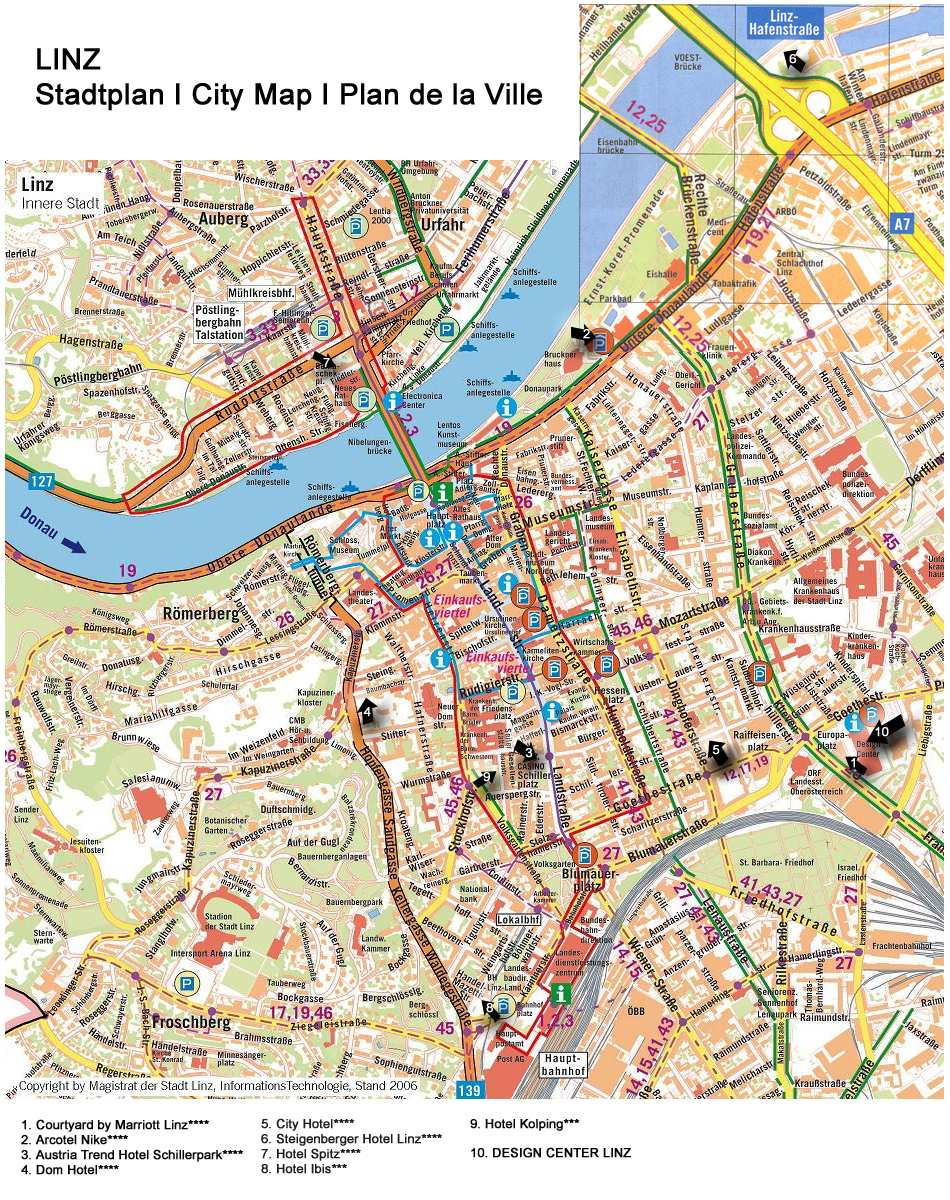 Linz Austria Map Large Linz Maps for Free Download and Print | High Resolution and