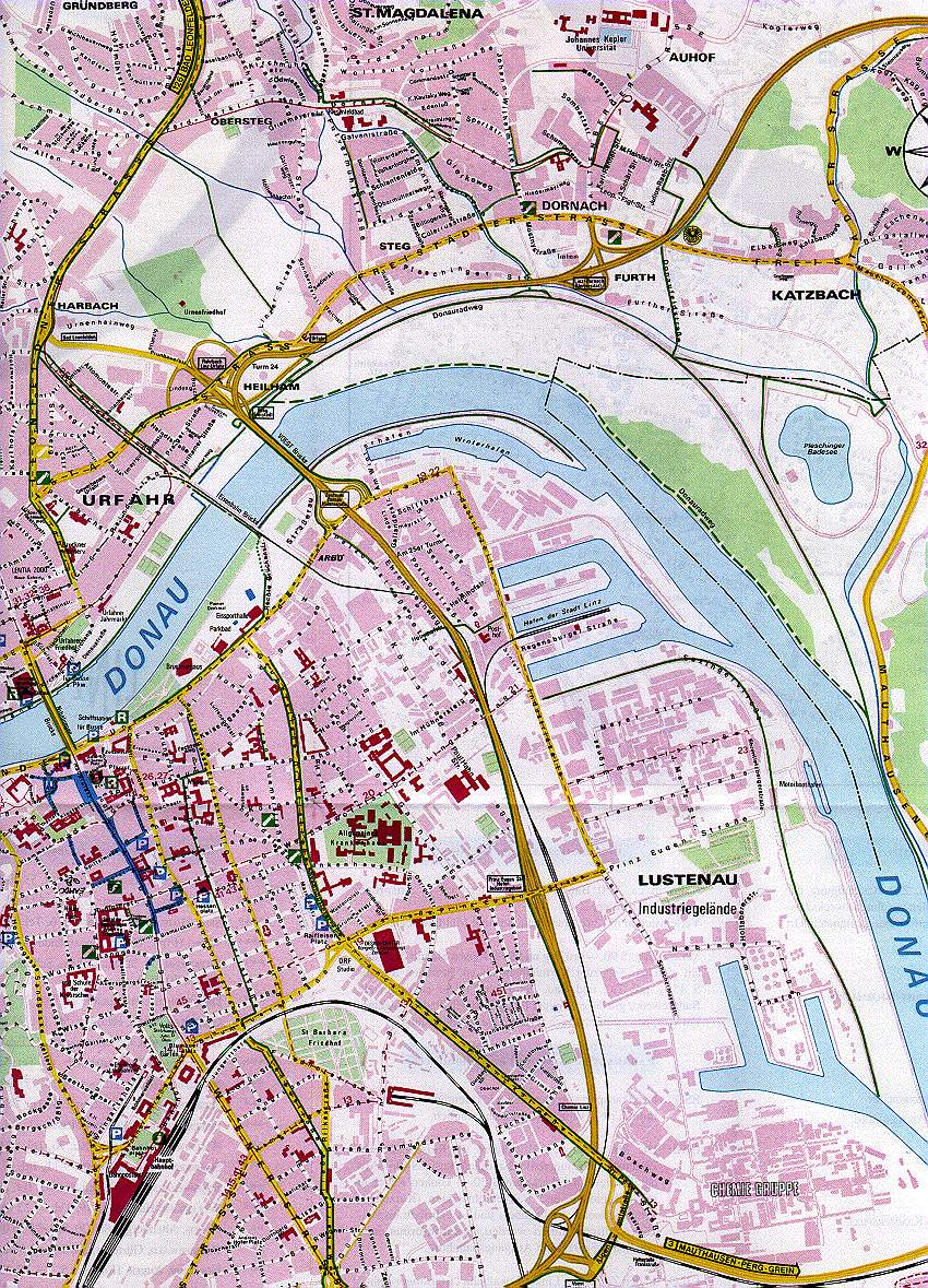 Large Linz Maps for Free Download and Print HighResolution and