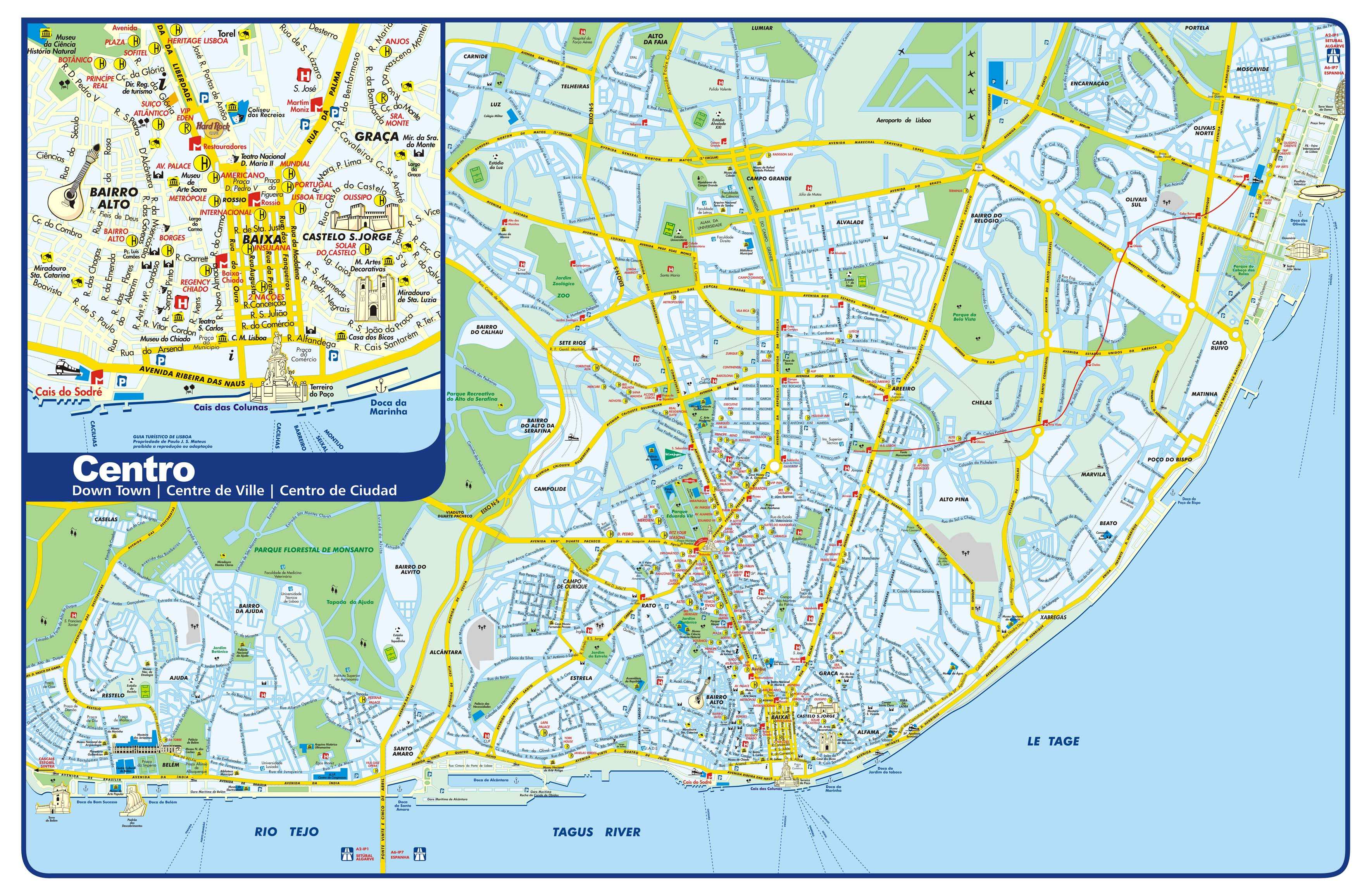 Map Of Lisbon Portugal Large Lisbon Maps for Free Download and Print | High Resolution