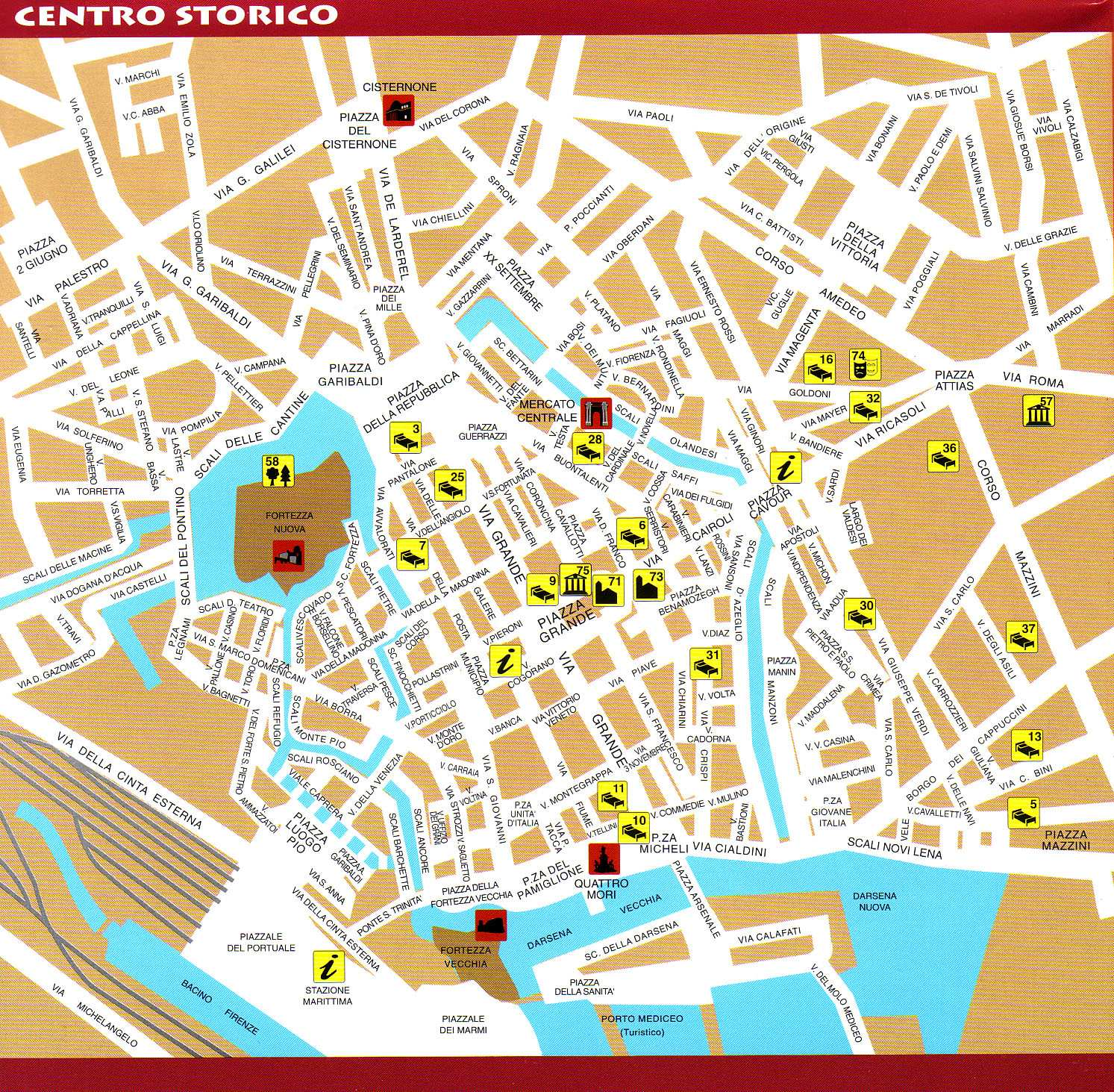 Large Livorno Maps for Free Download and Print HighResolution and