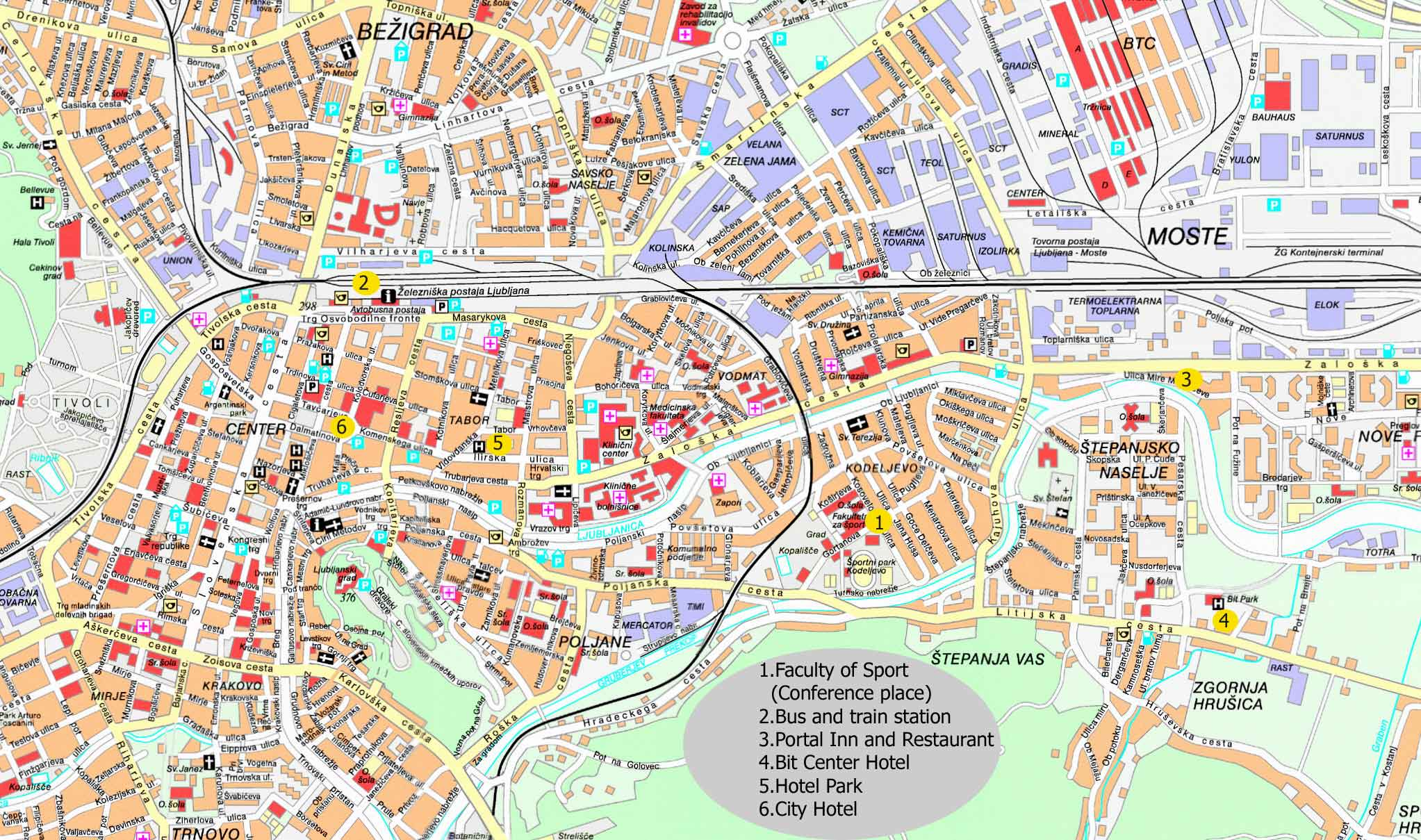 fakulteti u zagrebu karta Large Ljubljana Maps for Free Download and Print | High Resolution  fakulteti u zagrebu karta