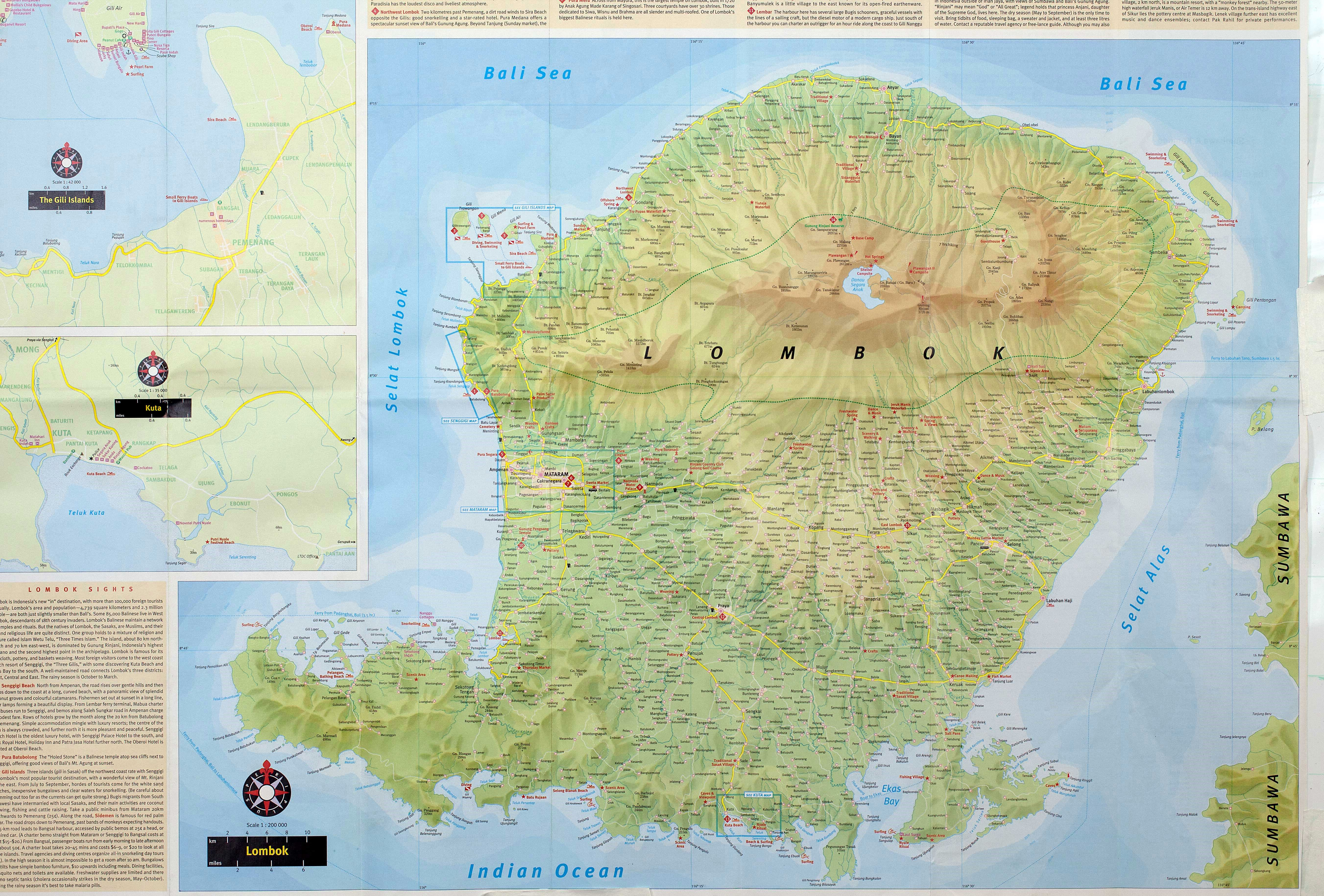 Large lombok island maps for free download and print high large map of lombok island 1 gumiabroncs Gallery