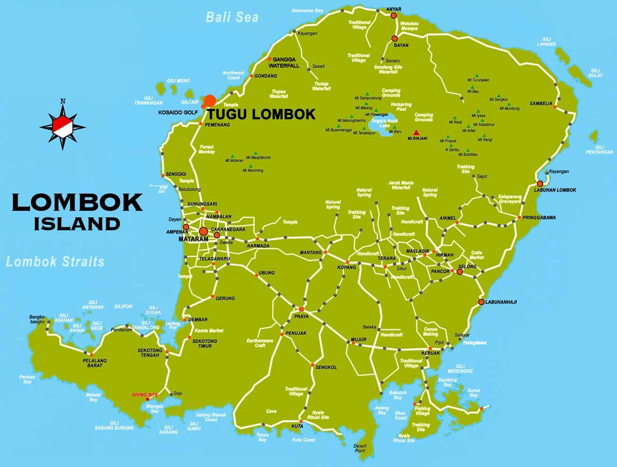 Large lombok island maps for free download and print high large map of lombok island 3 gumiabroncs Gallery