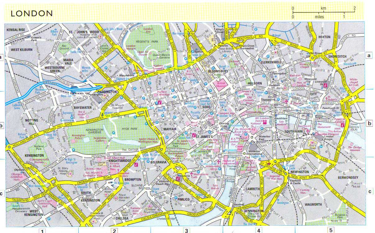 detailed map of london 2