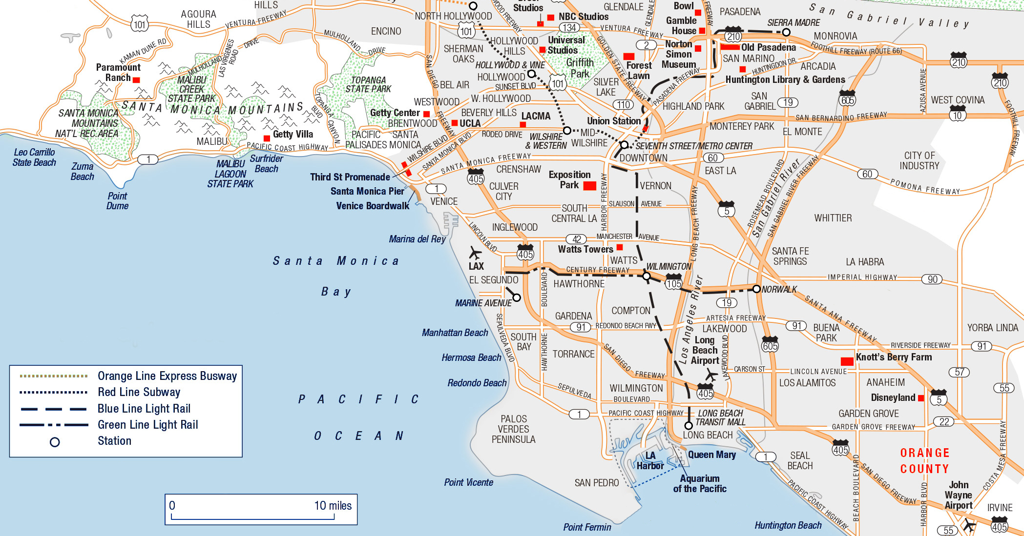 Large Los Angeles Maps for Free Download and Print | High