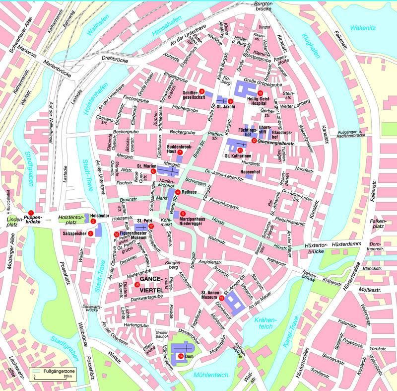 lübeck karte Stadtplan von Lübeck | Detaillierte gedruckte Karten von Lübeck  lübeck karte